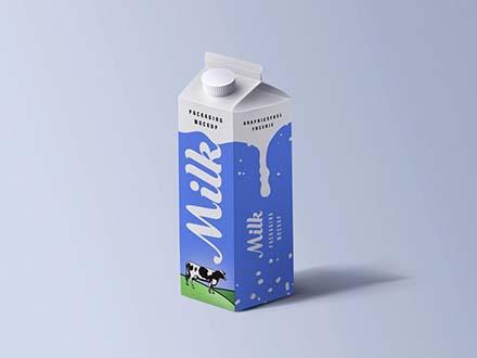 Cartoon Milk Packaging Mockup