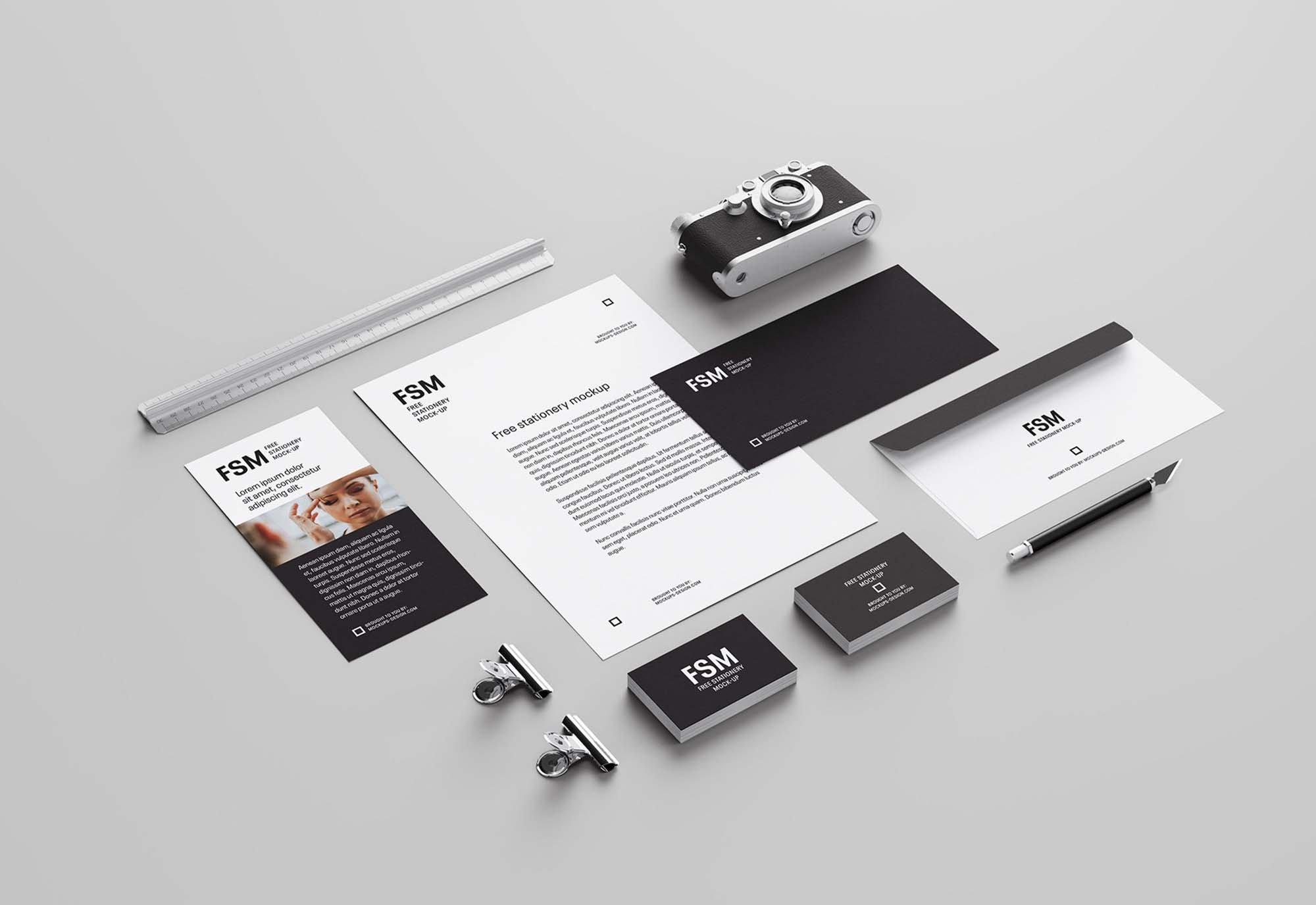 Creative Stationery Mockup Perspective