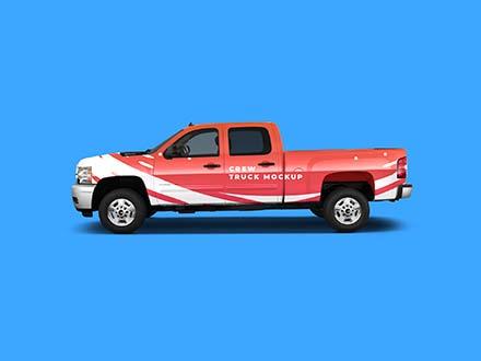 Crew Truck Mockup
