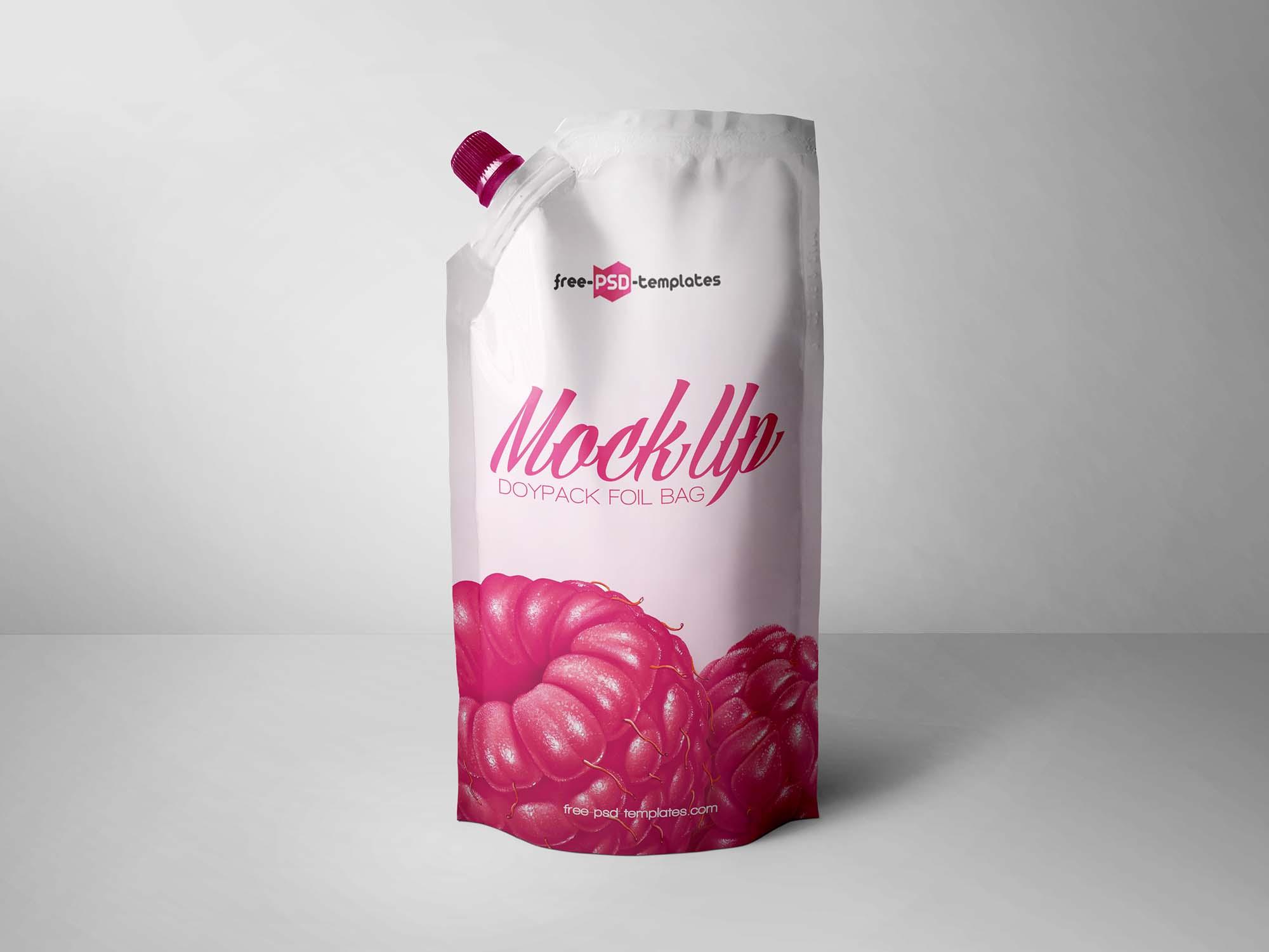 Doypack Foil Bag Mockup
