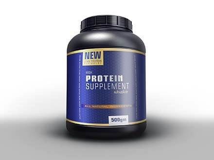 Protein Powder Bottle Mockup