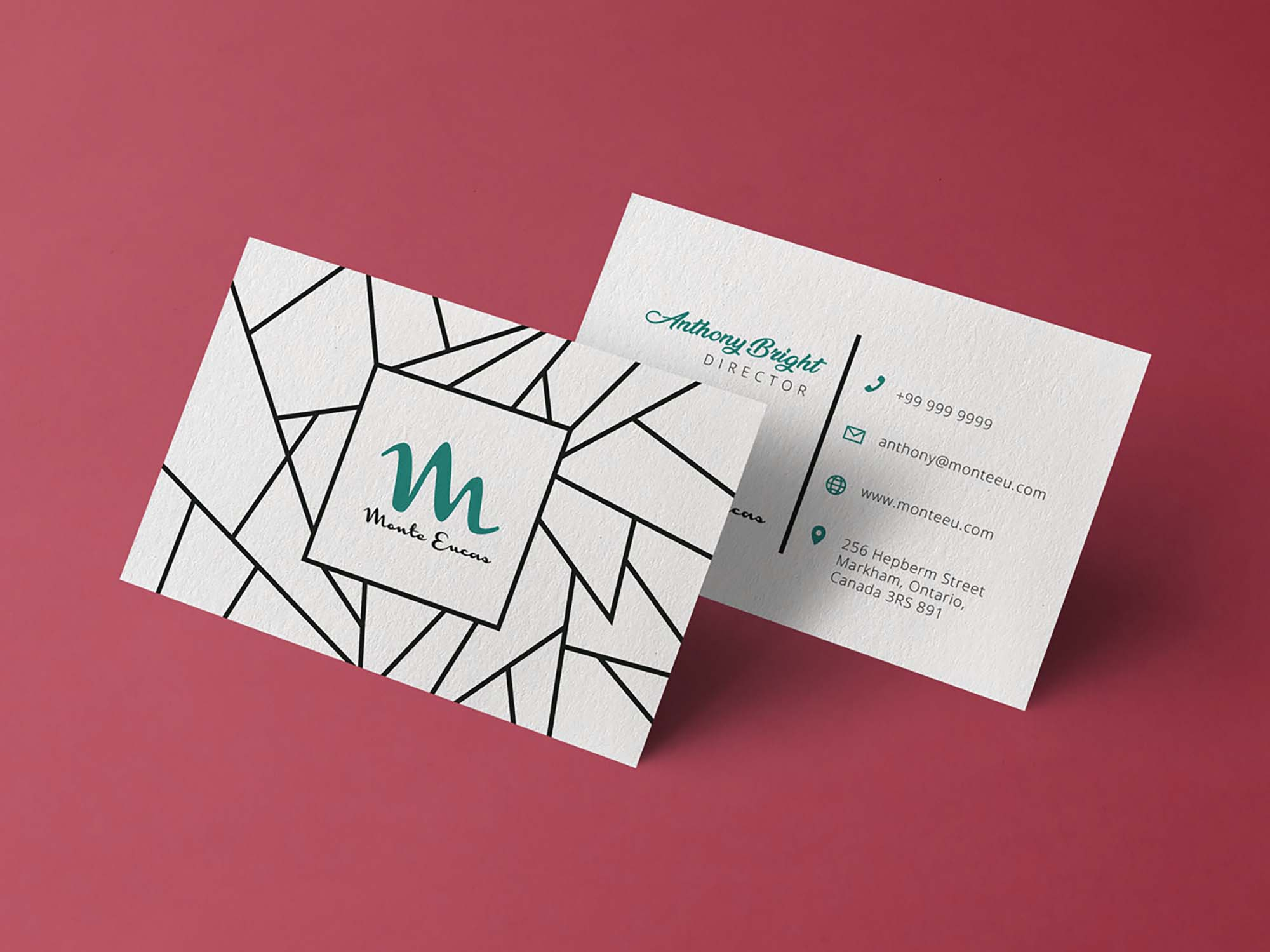 Business Card Design Mockup