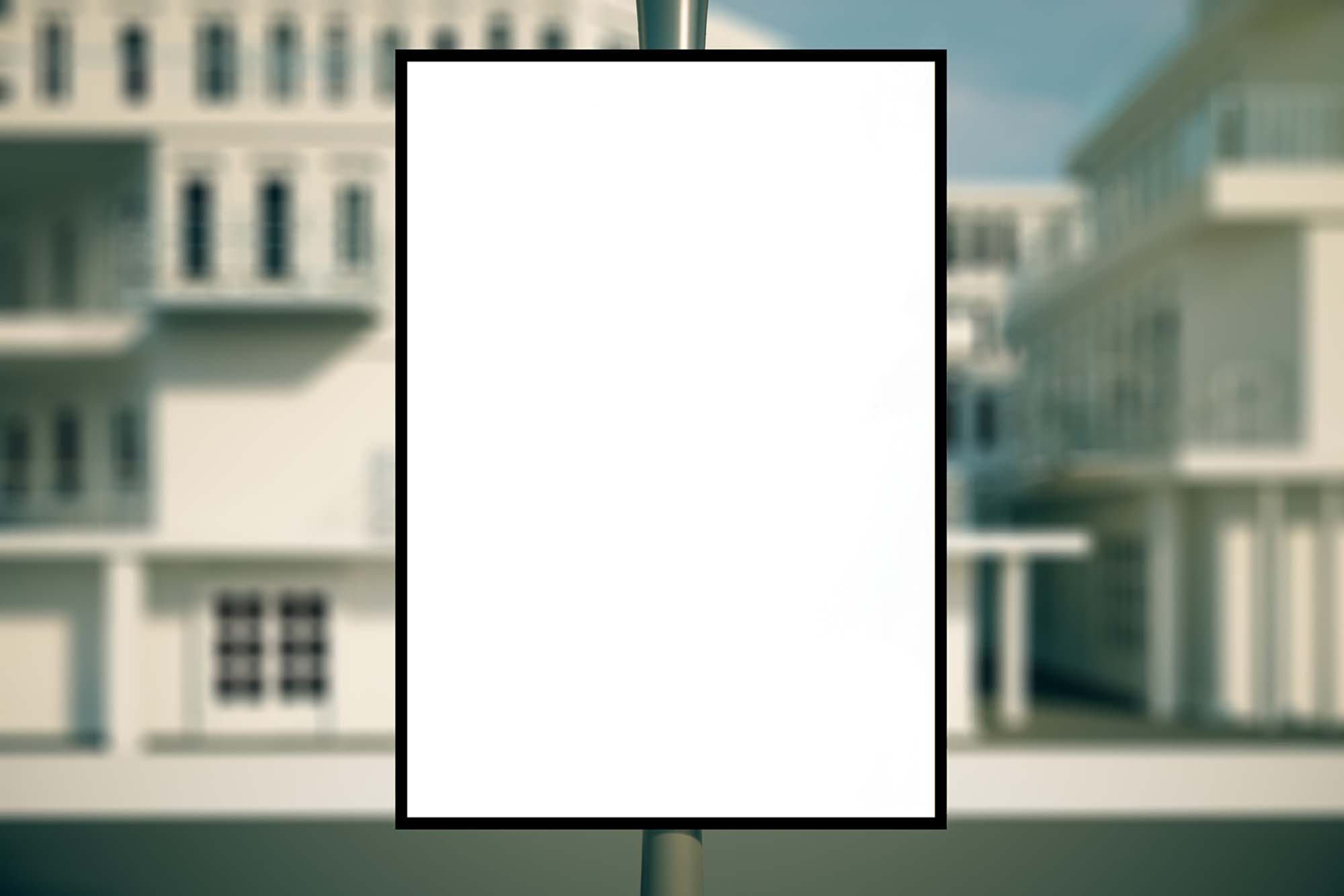 Front Outdoor Advertising Poster Mockup