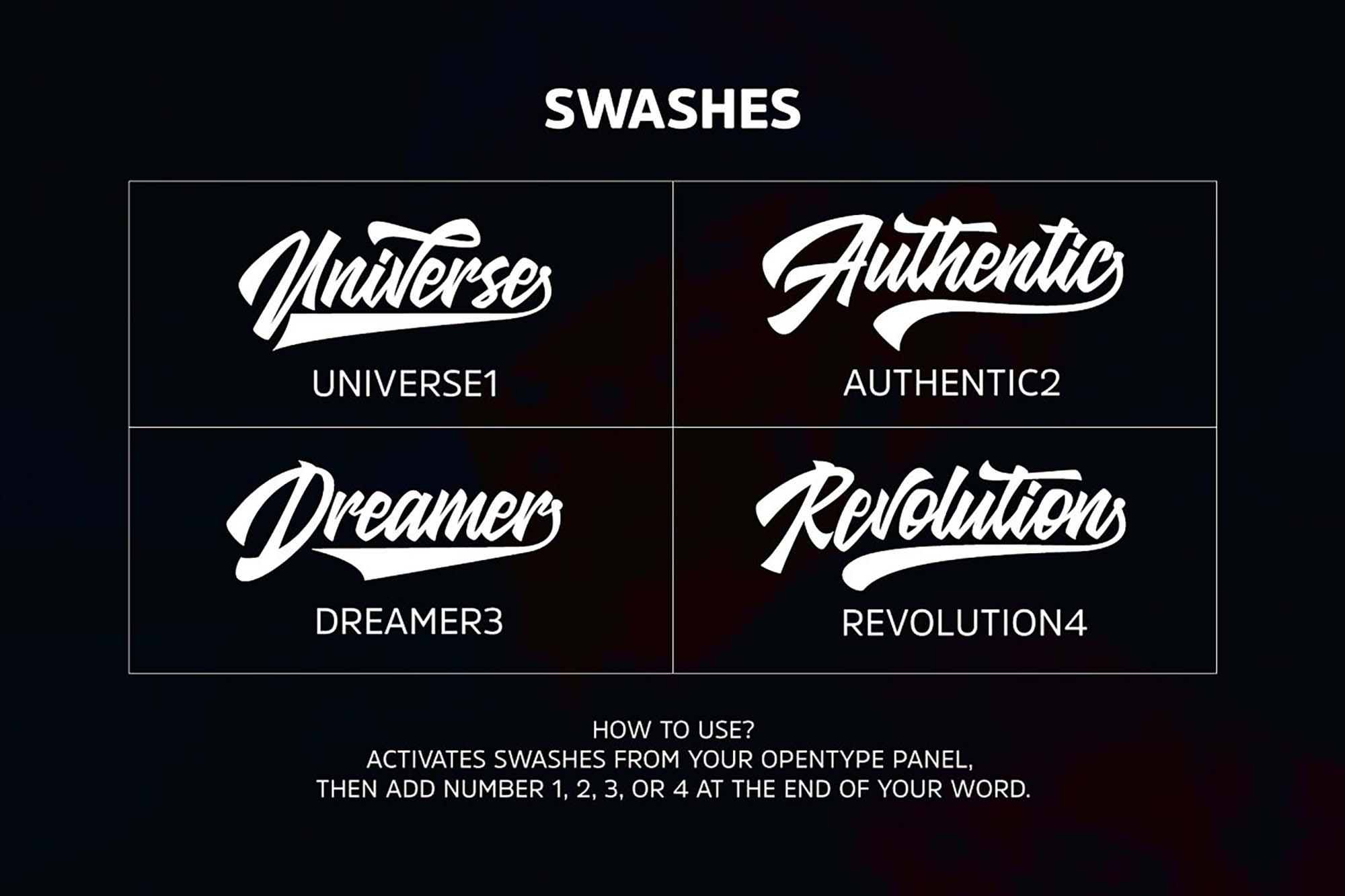 Glarious Font Styles