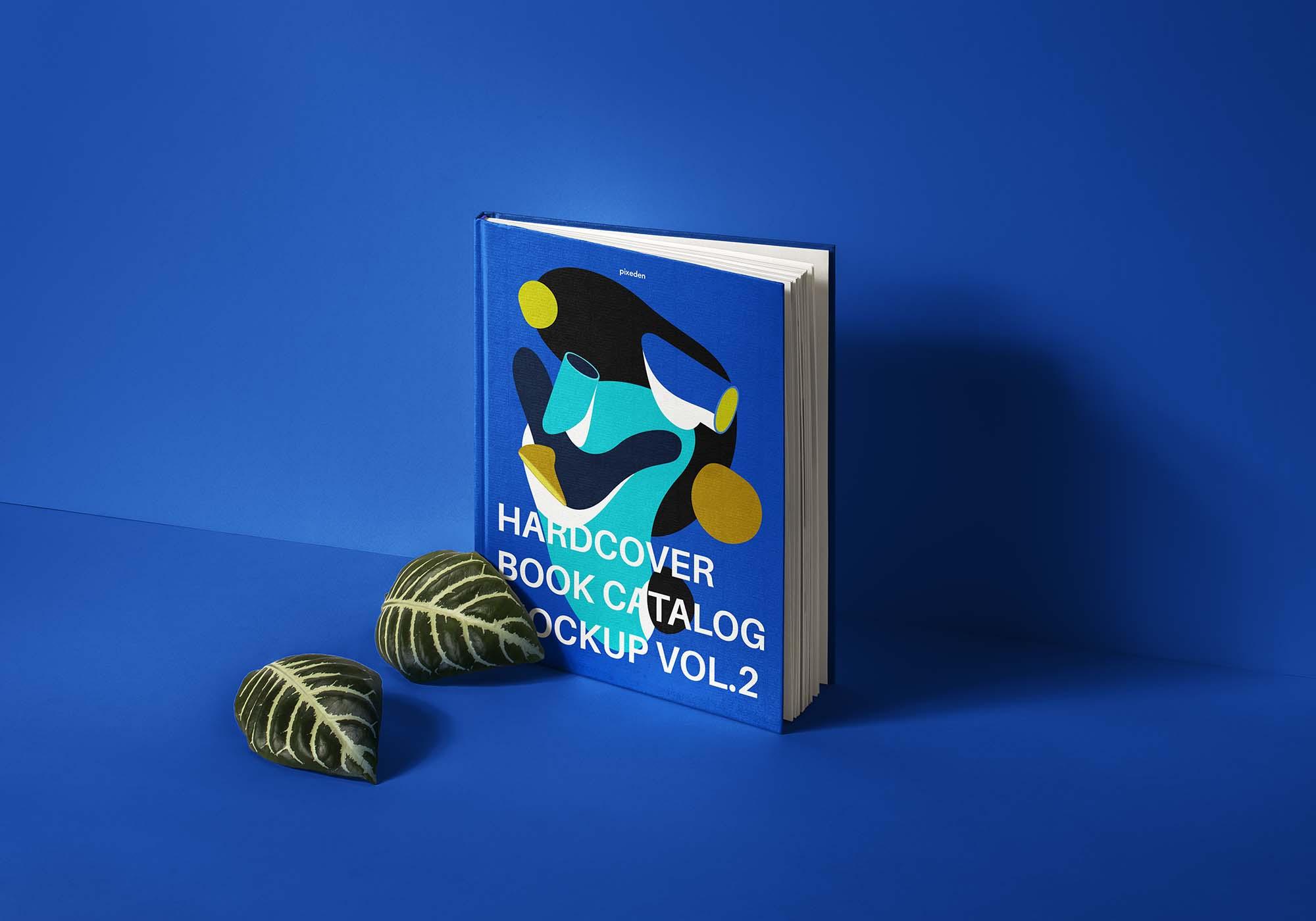 Hardcover Book Catalog Mockup 2