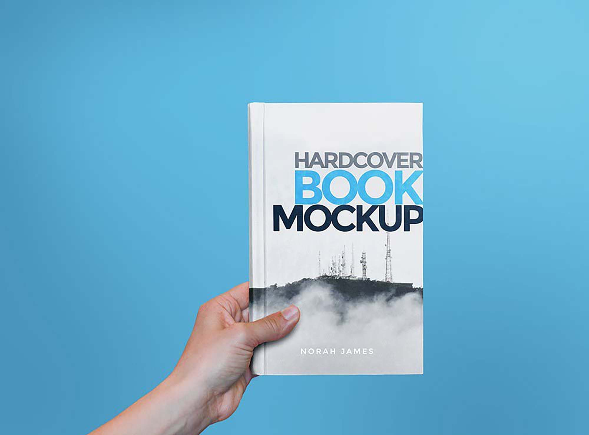 Hardcover Book in Hand Mockup 2