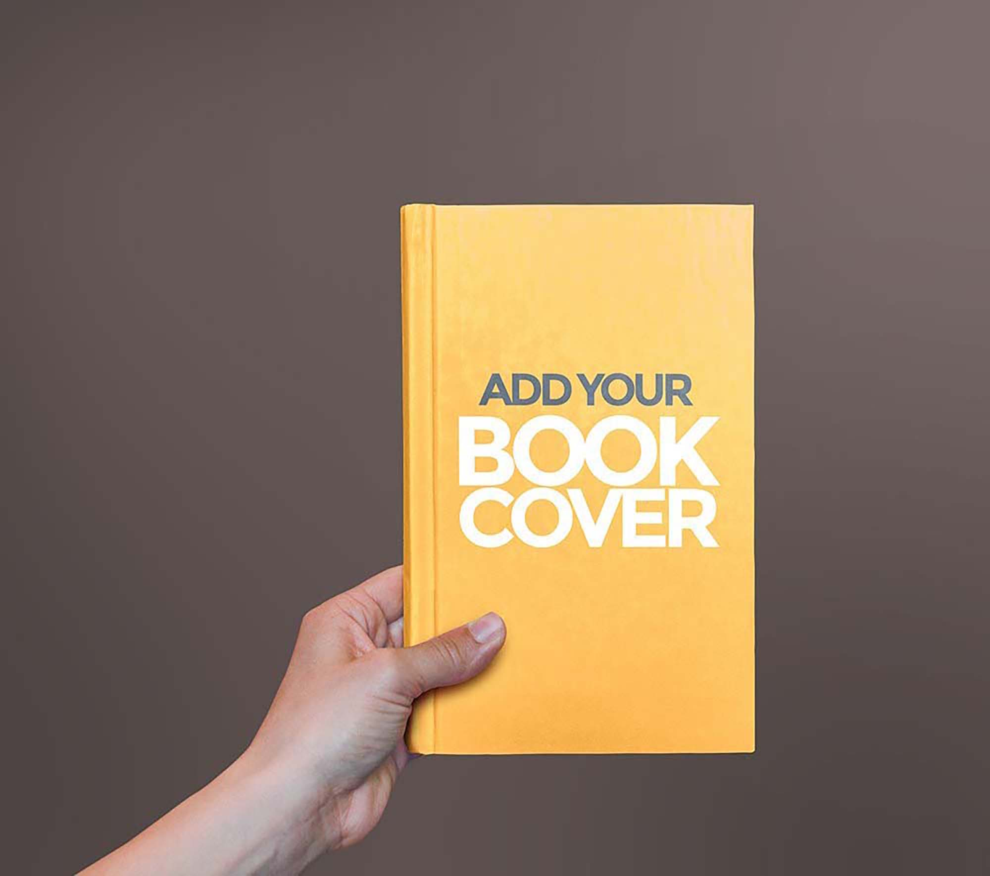 Free Hardcover Book In Hand Mockup Psd