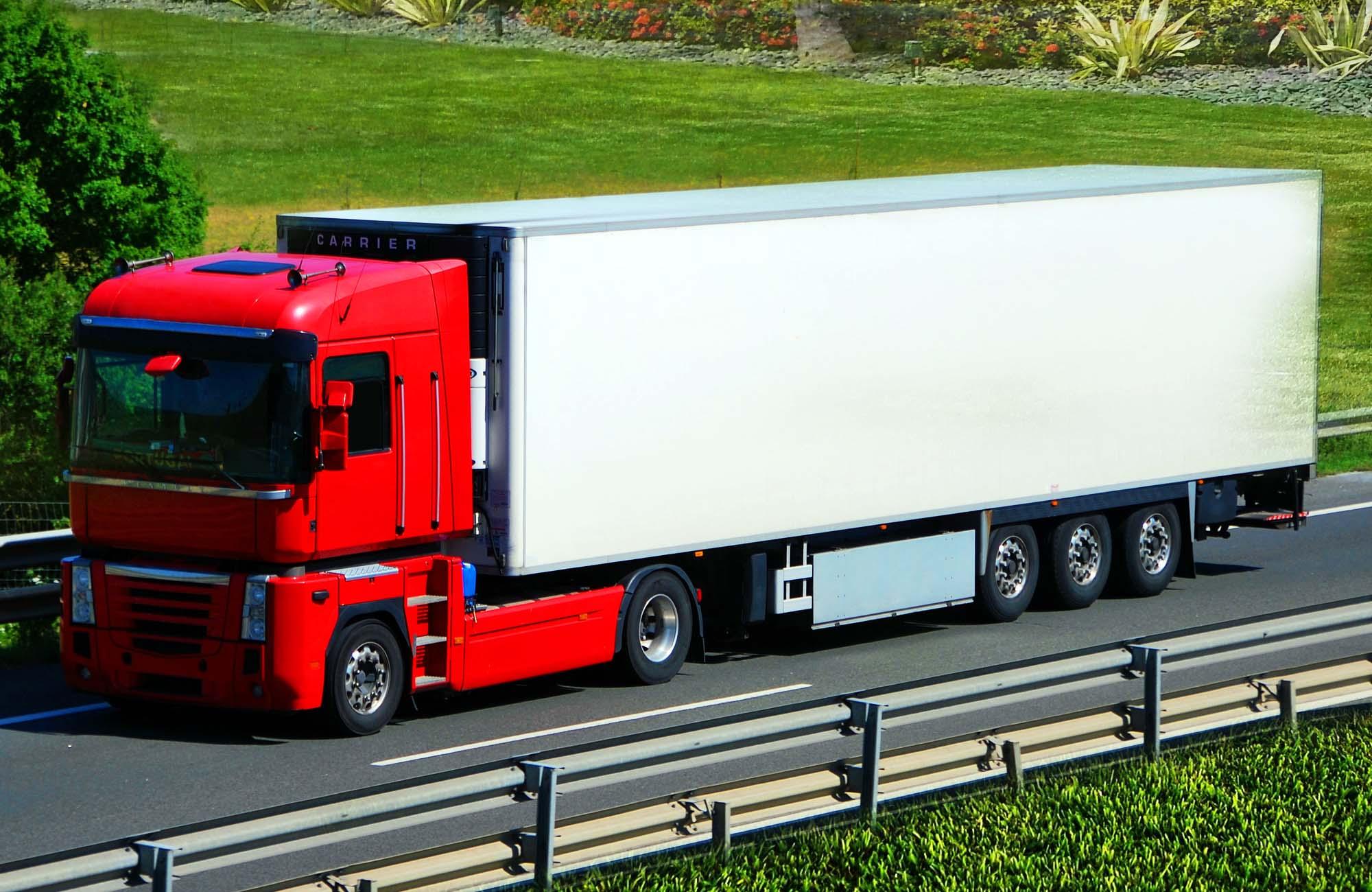 Heavy Duty Truck Vehicle Branding Mockup