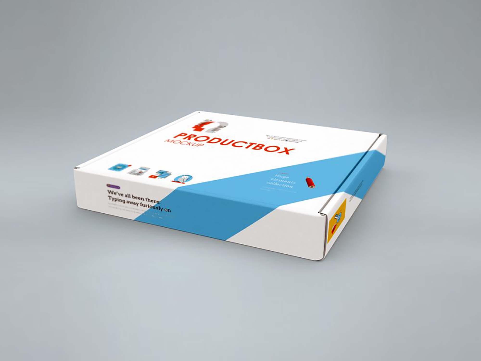 Horizontal Box Cover Mockup