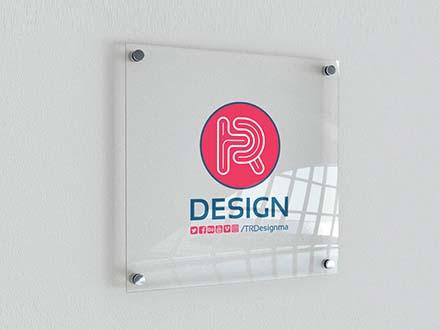 Indoor Glass Signage Mockup