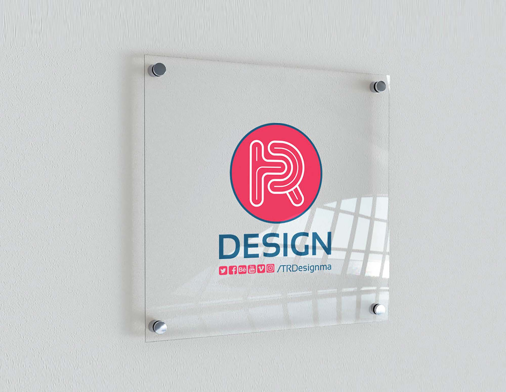 Indoor Glass Signage Mockup