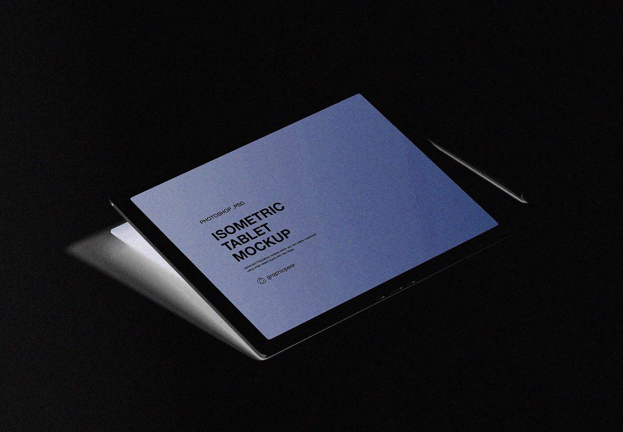 Isometric Tablet Mockup 2