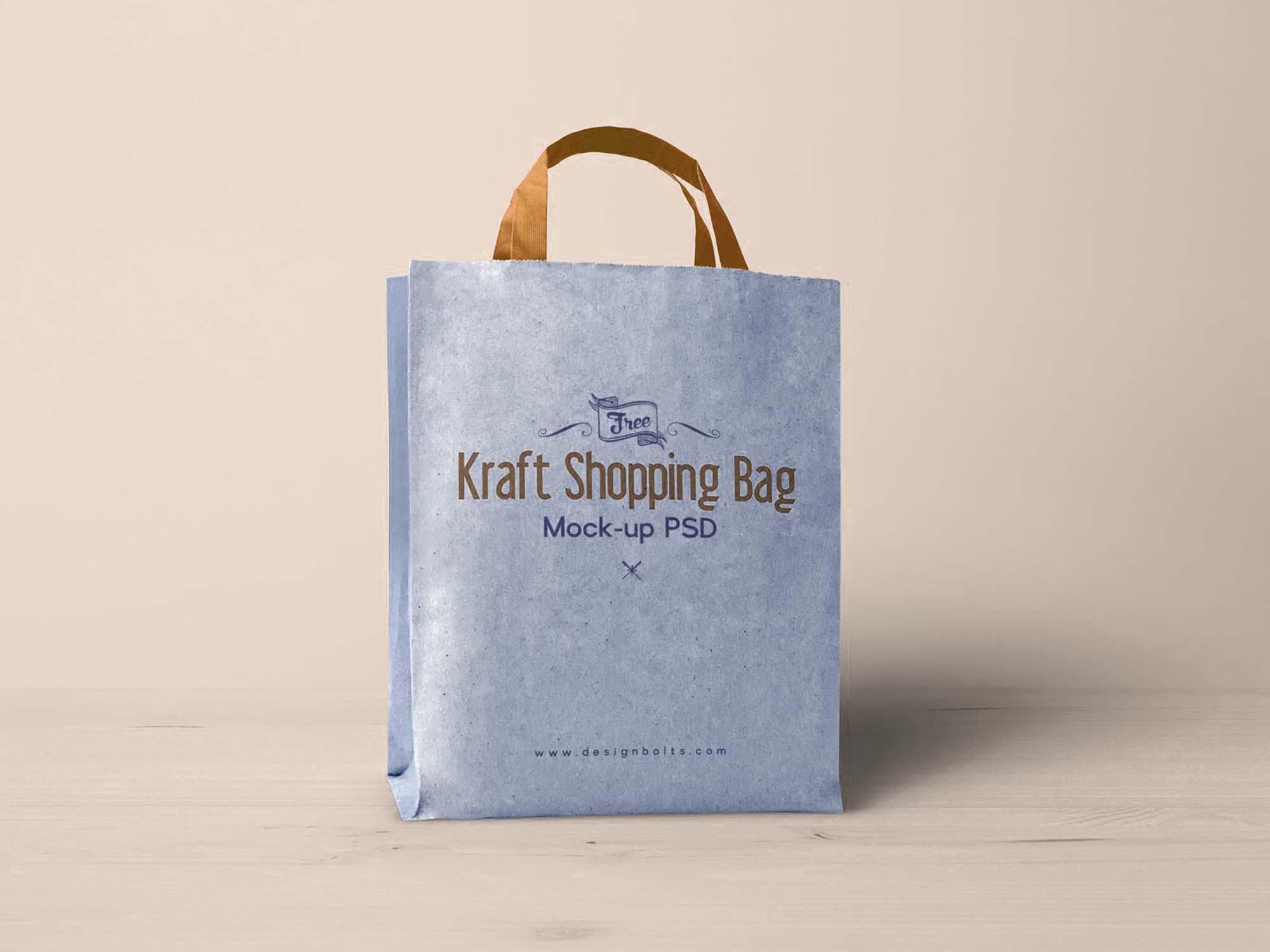 Kraft Paper Shopping Bag Mockup 3