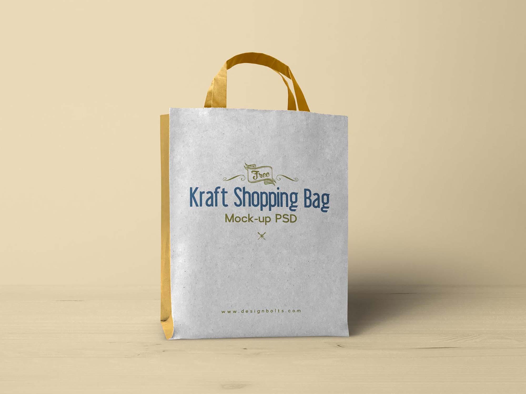 Kraft Paper Shopping Bag Mockup 2