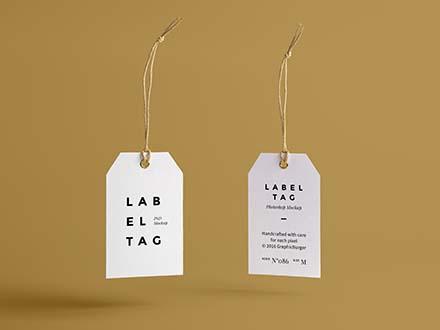 Label Tag Mockup