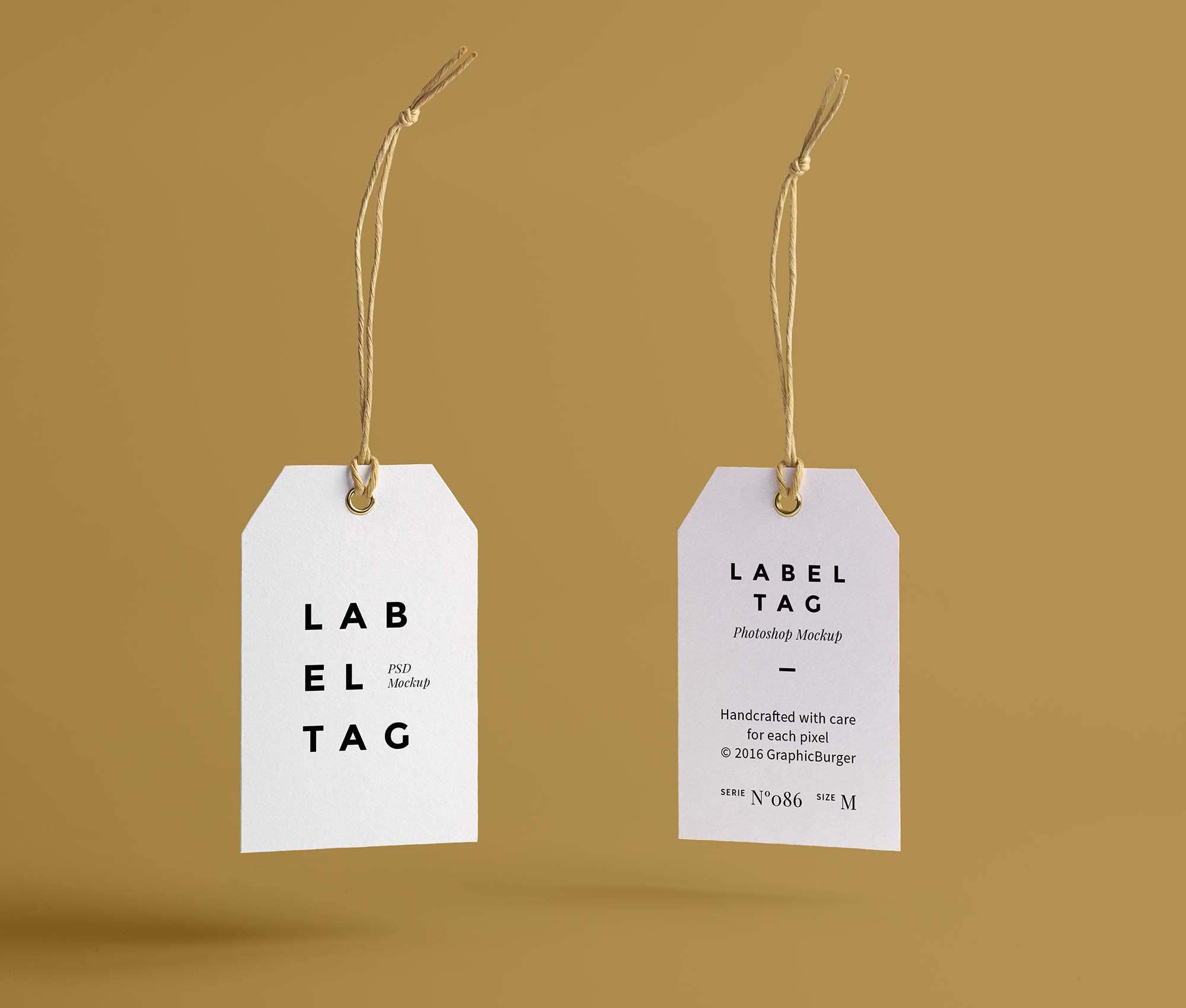 Label Tag Mockup 1