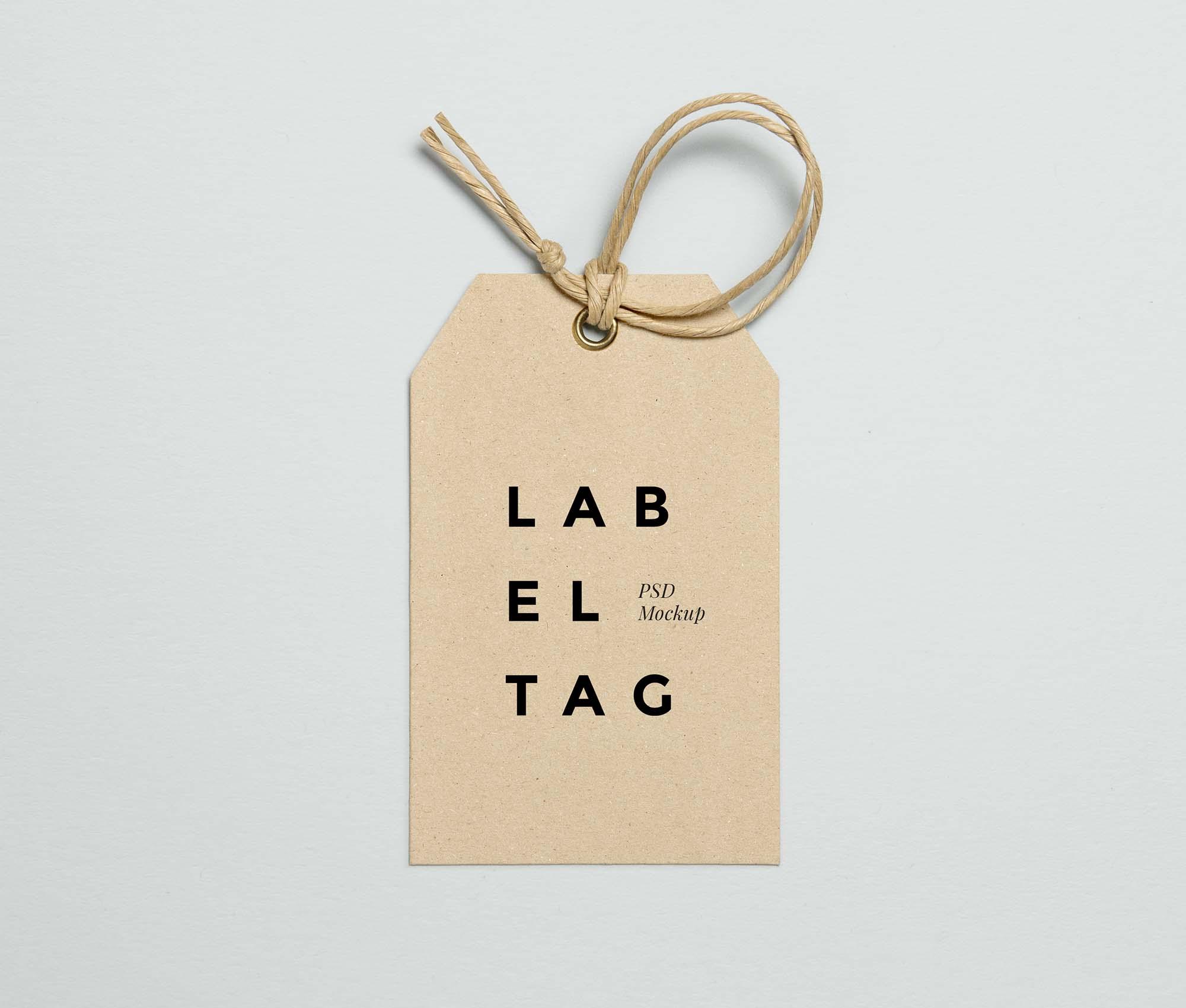 Label Tag Mockup 2