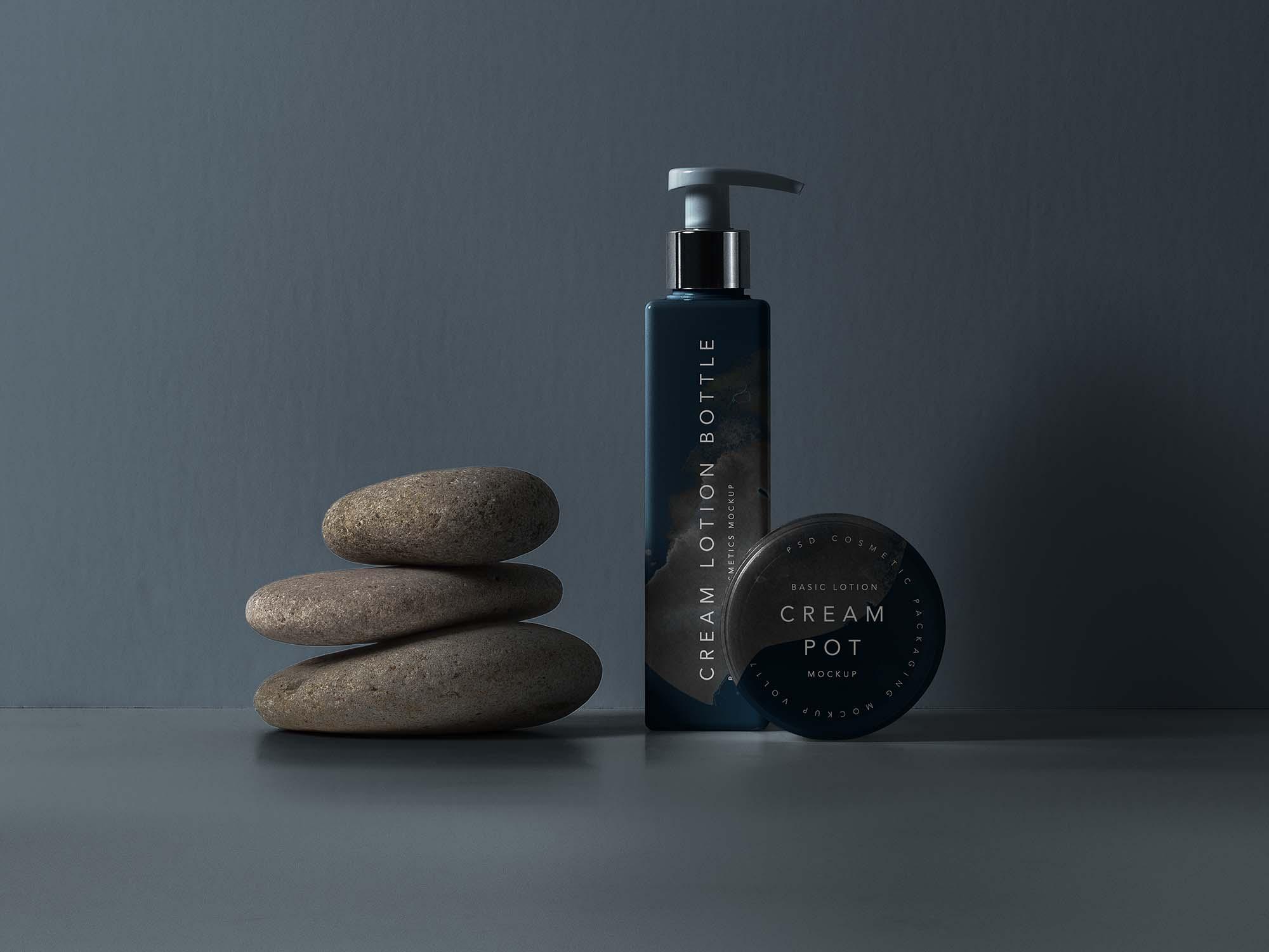 Lotion Bottle Cosmetic Mockup