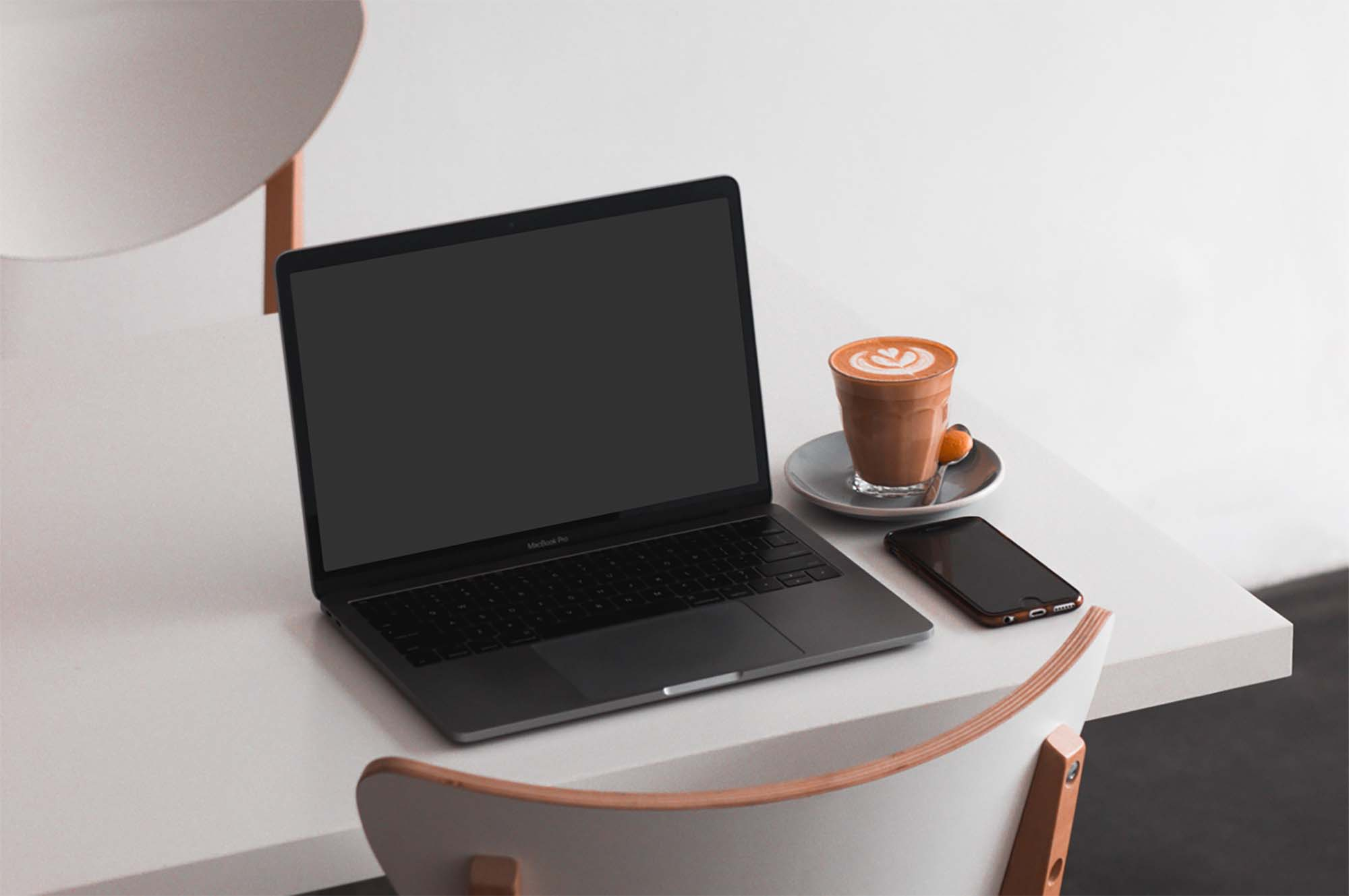 MacBook on Table Mockup 2