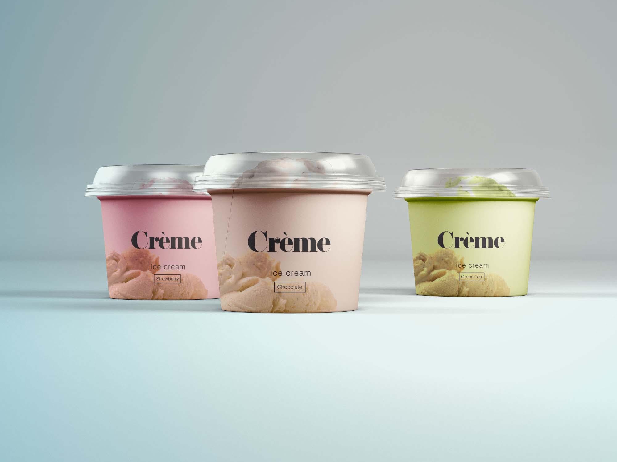 Mini Ice Cream Cup Mockup 2