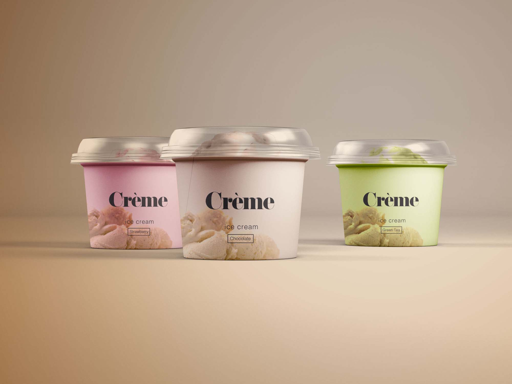 Mini Ice Cream Cup Mockup