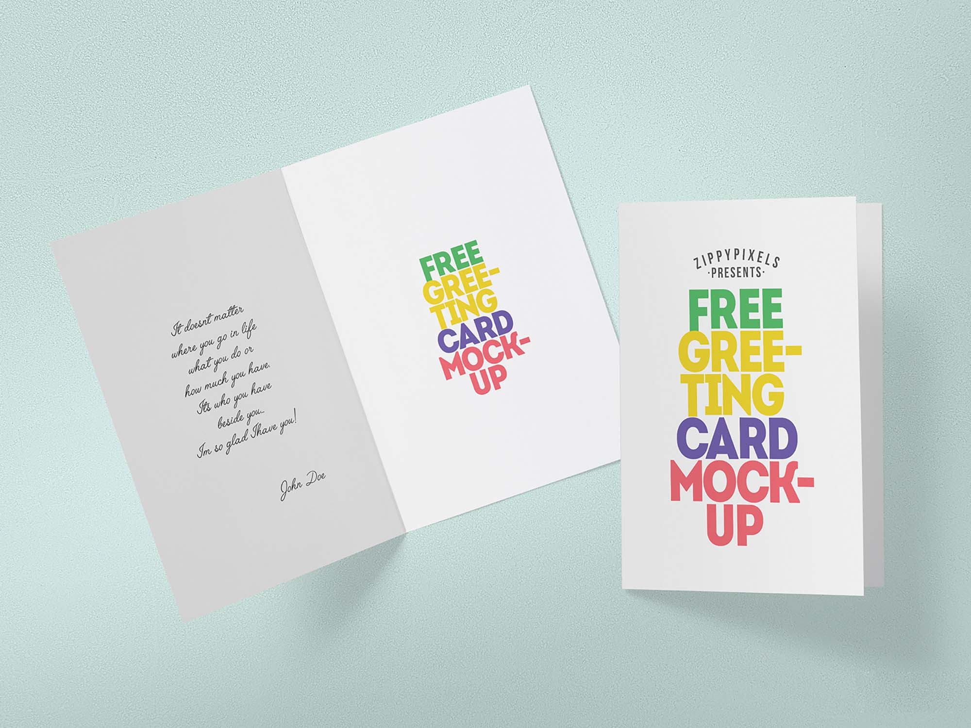 Modifiable Greeting Card Mockup