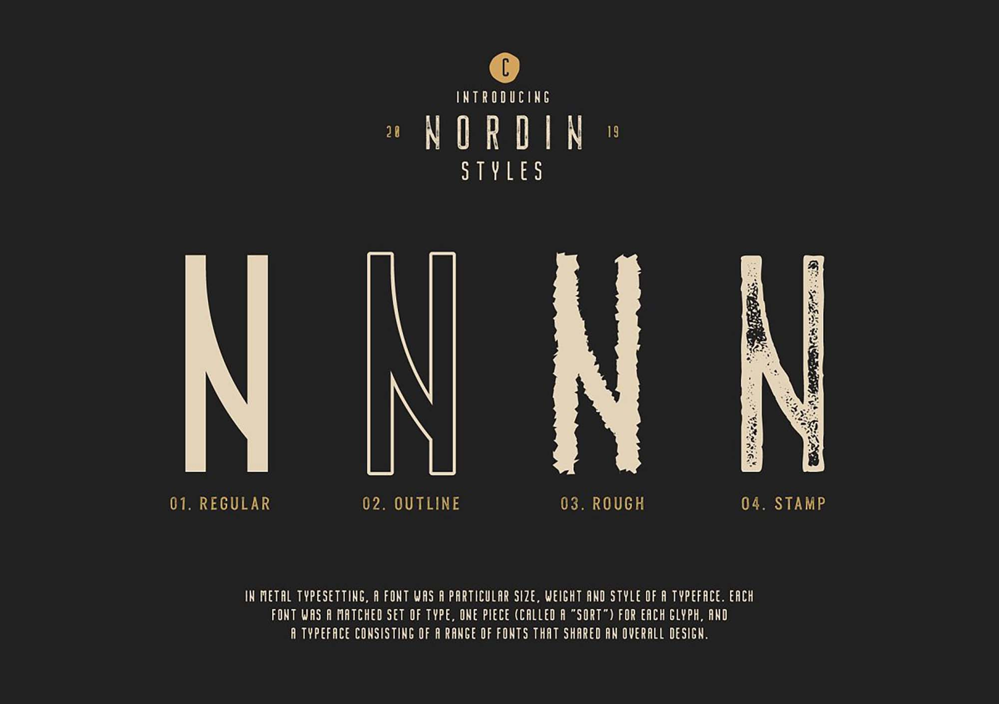 Nordin Vintage Font Styles