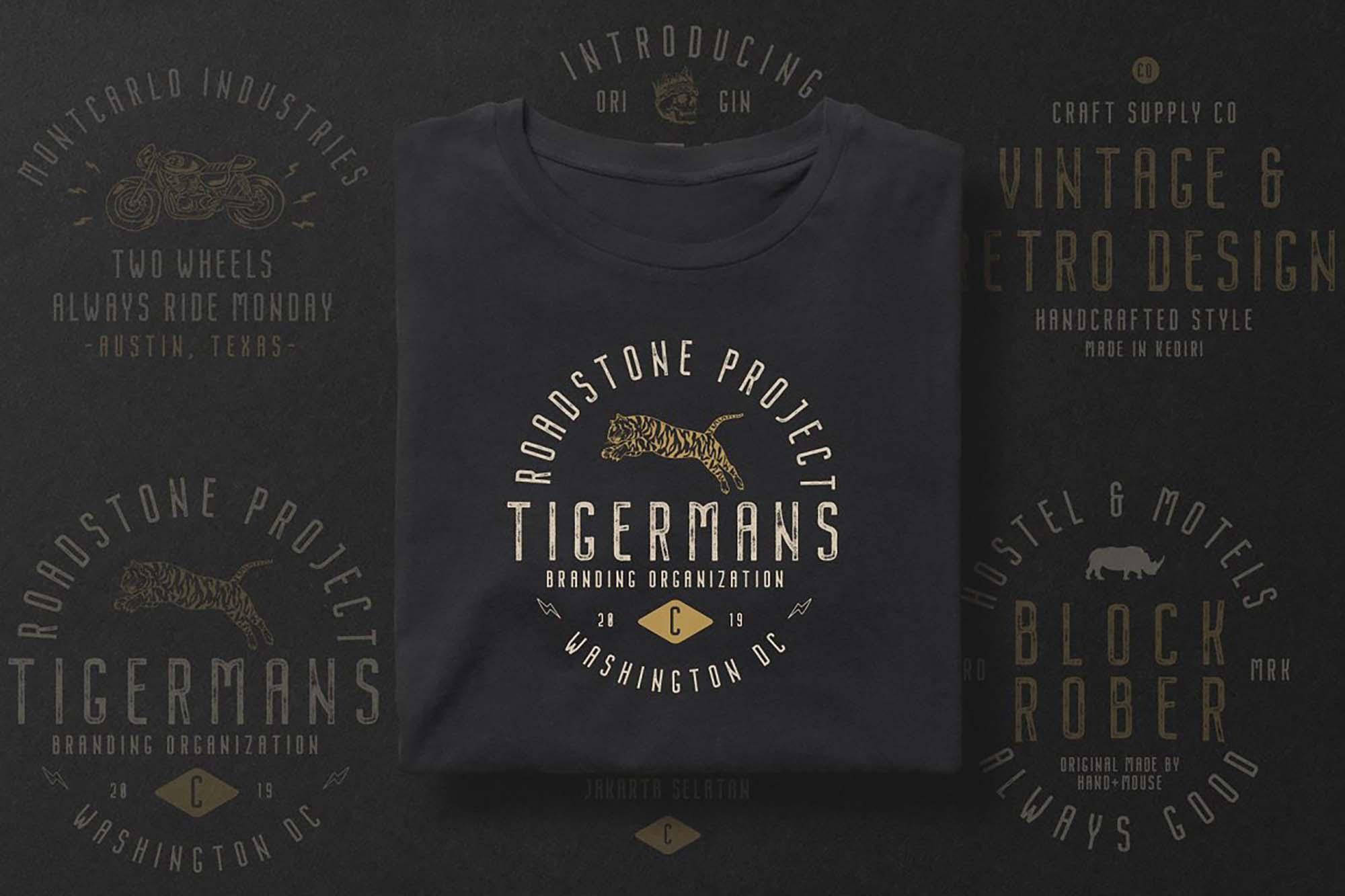 Nordin Vintage Font on T-Shirt