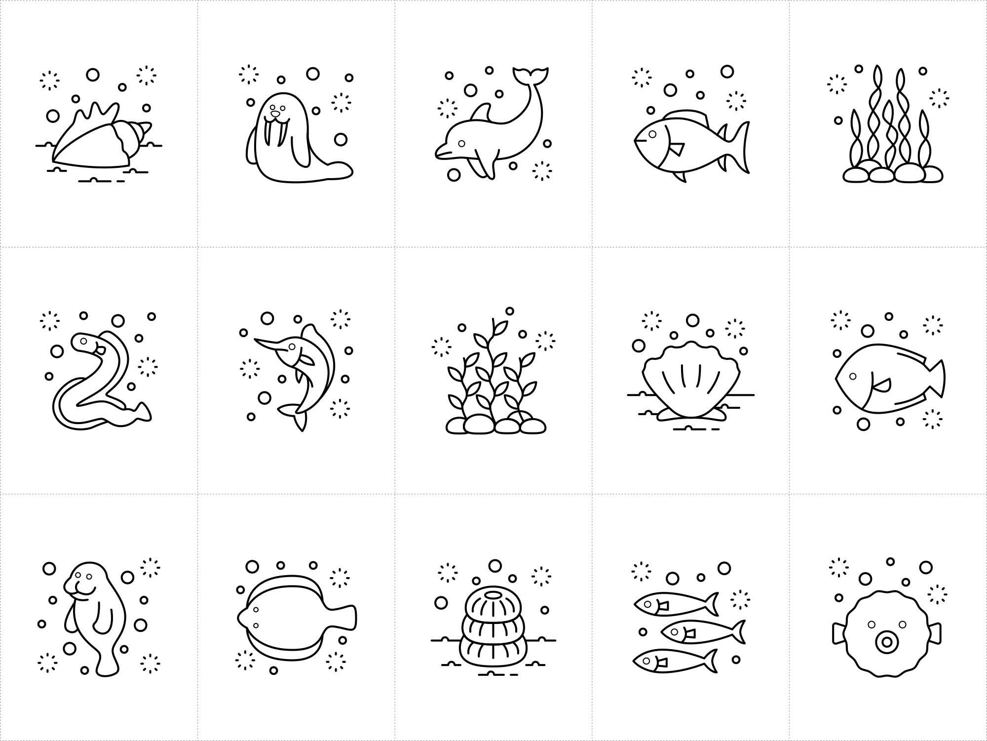 Ocean Vector Icons 1