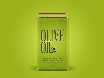 Olive Oil Can Mockup