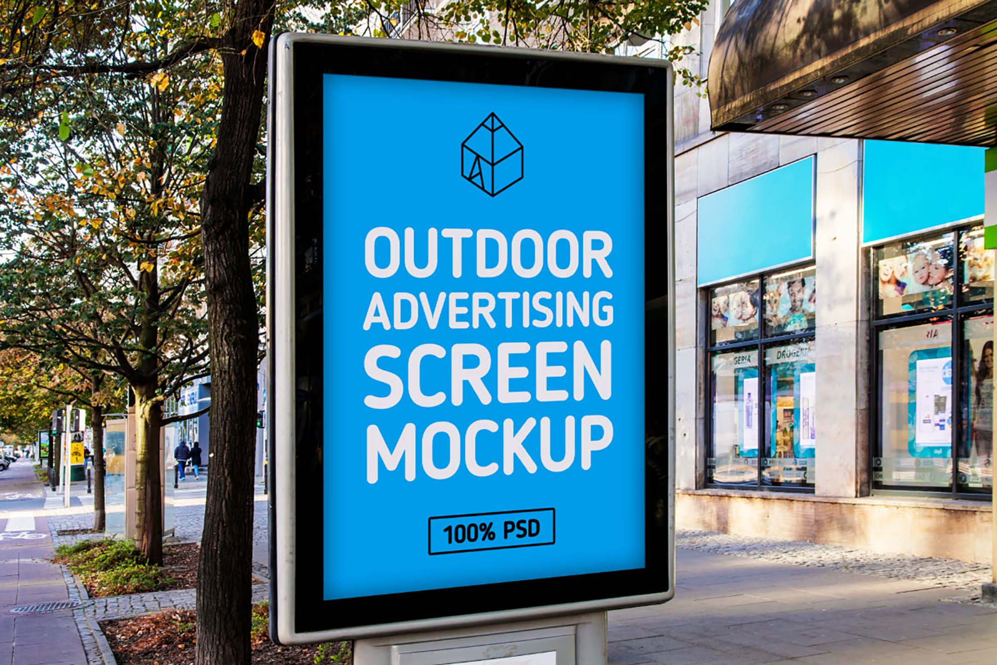 Outdoor Advertising Screen Mockup