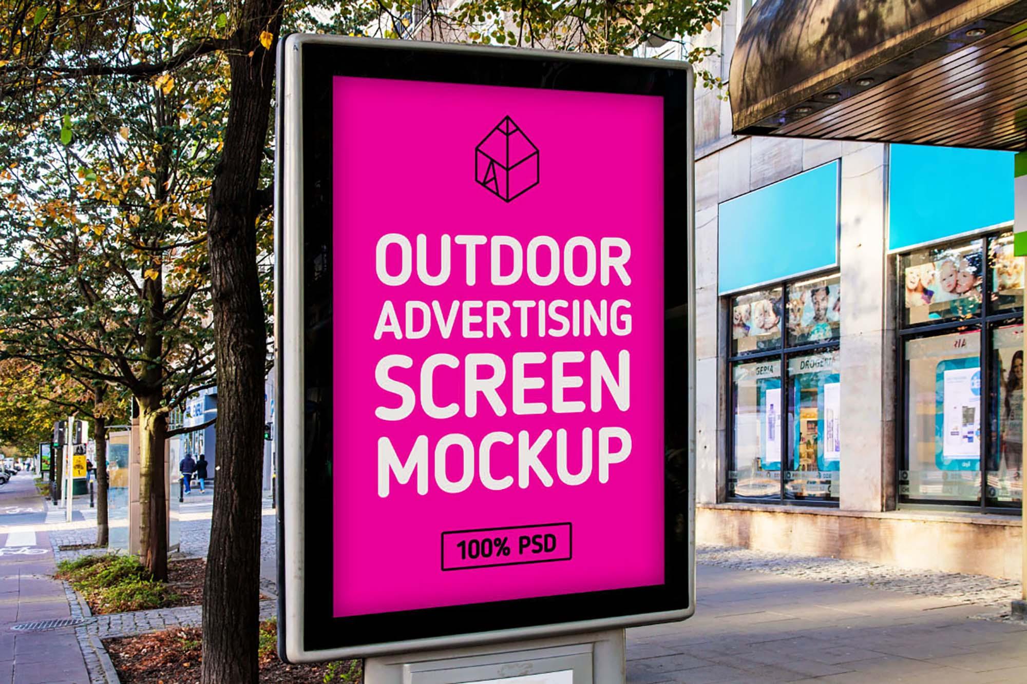 Outdoor Advertising Screen Mockup 2