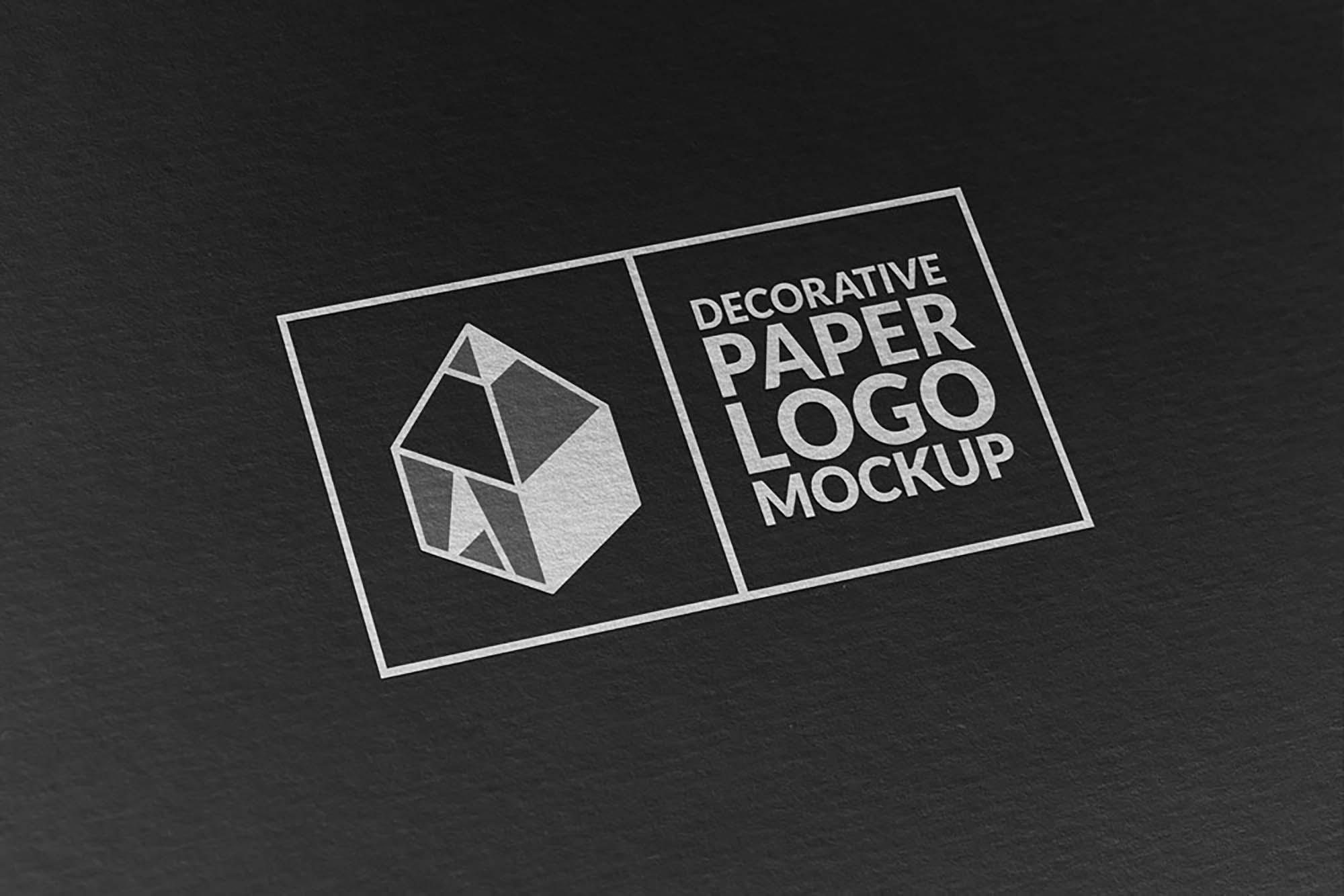 Paper Logo Mockup Black