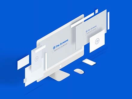 Perspective Responsive Screen Mockup