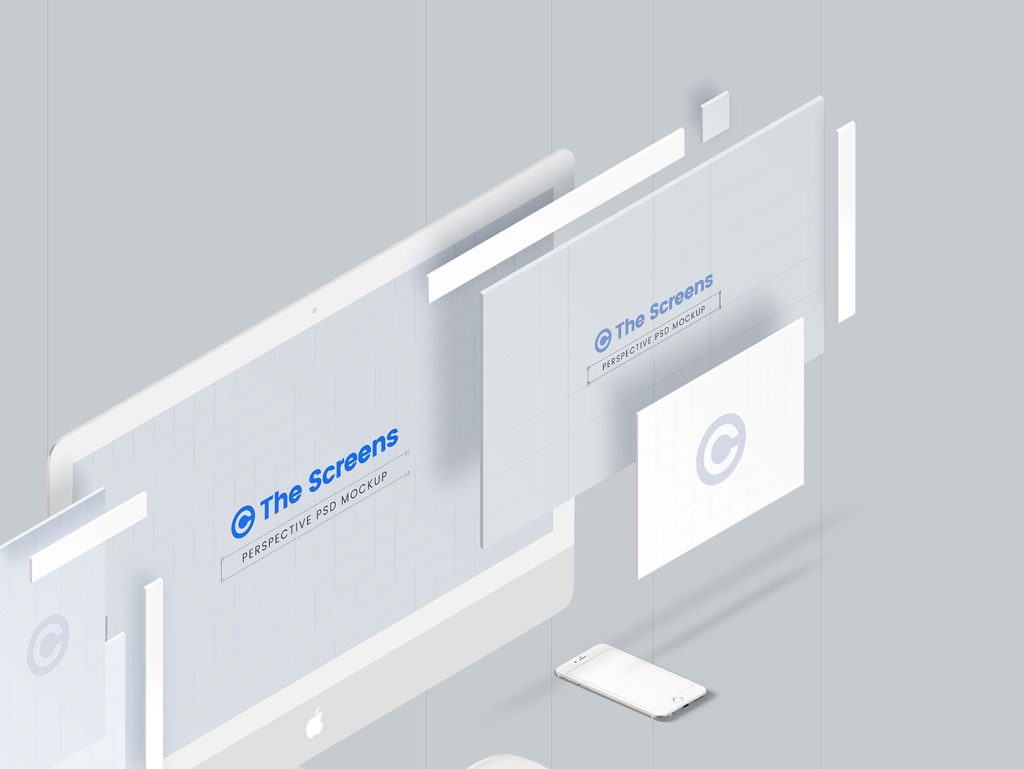 Perspective Responsive Screen Mockup