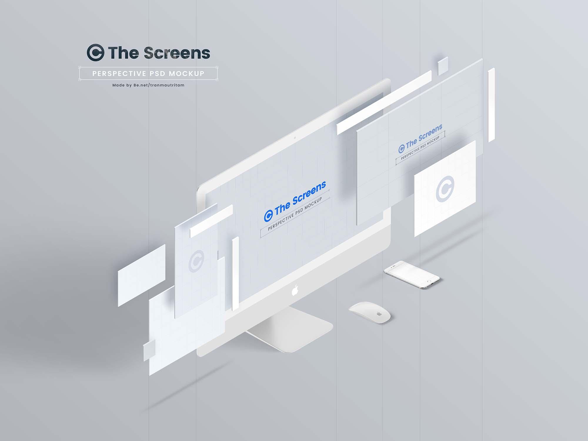 Perspective Responsive Screen Mockup 1