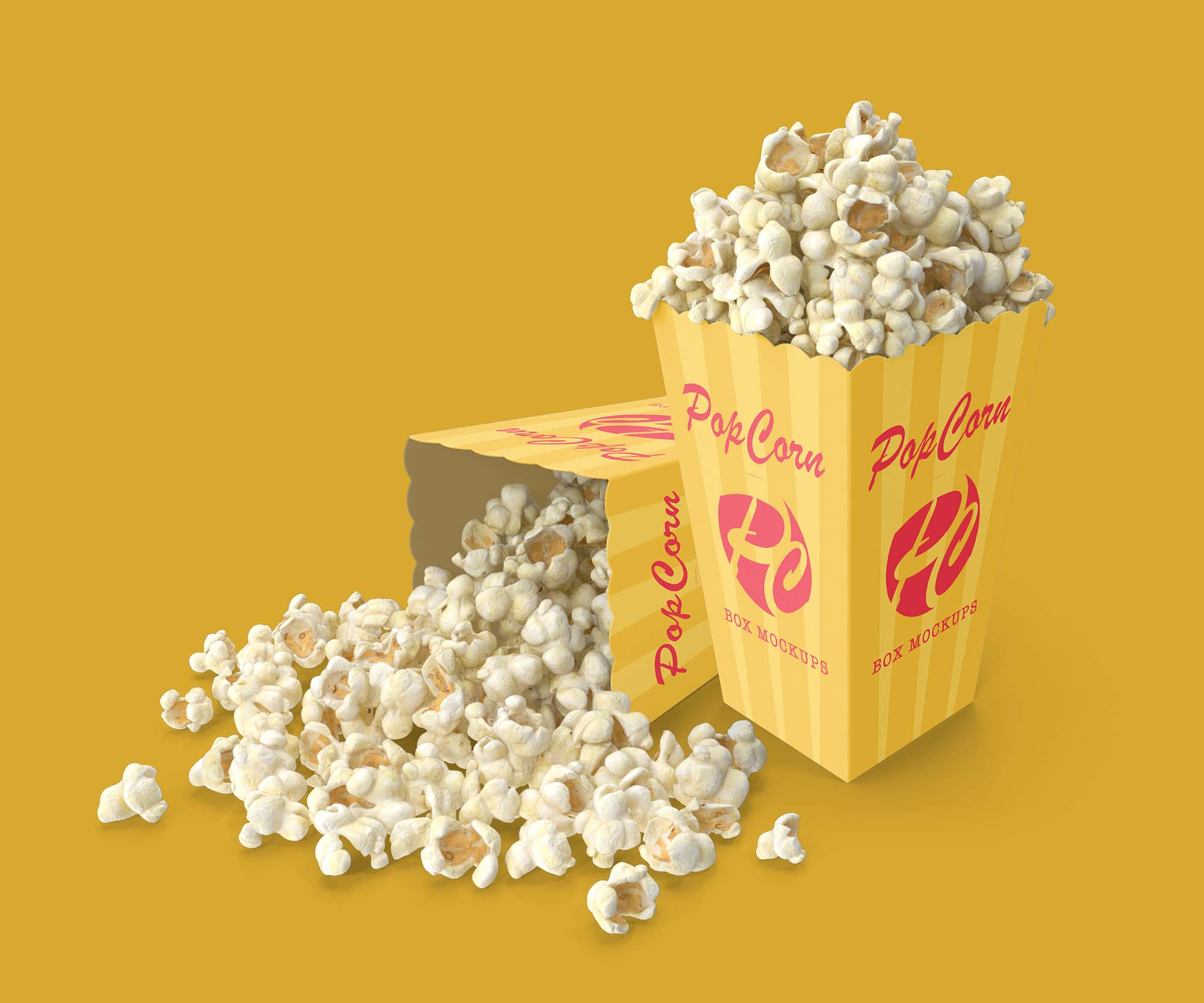 Popcorn Box Mockup 2
