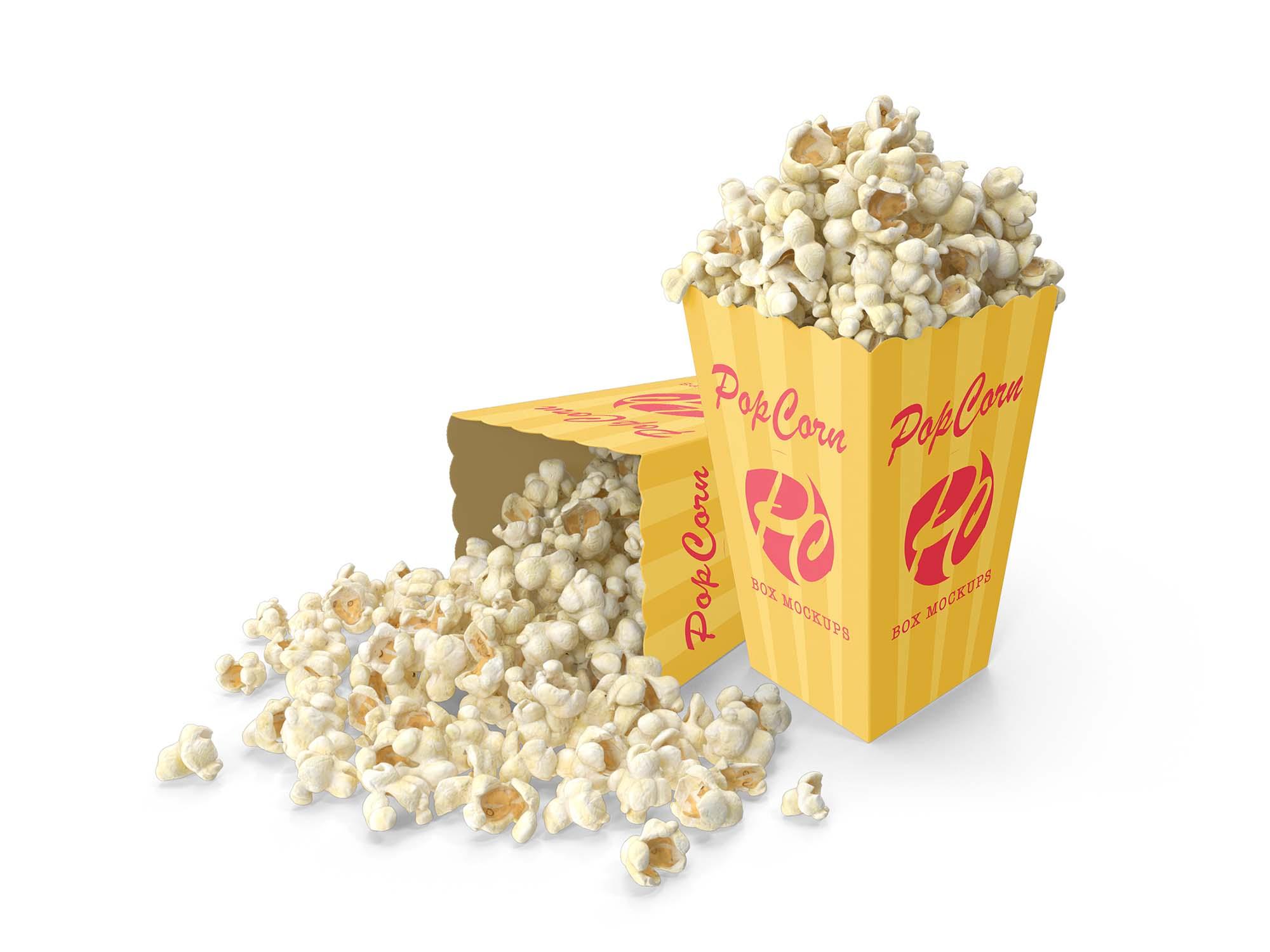 Popcorn Box Mockup 3