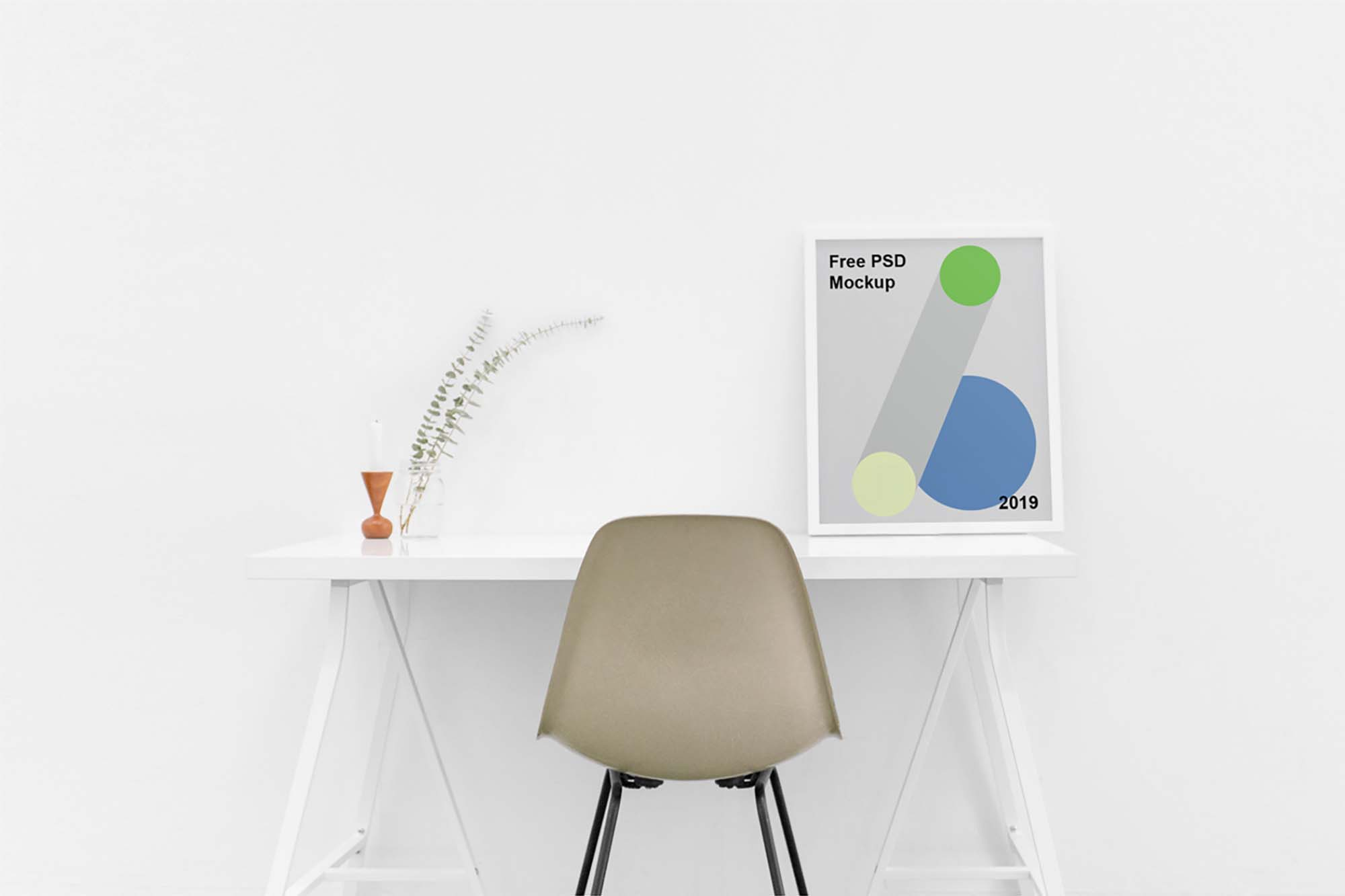 Poster on Table Mockup 2