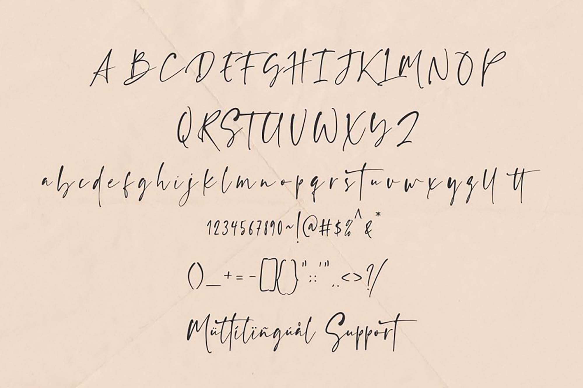 Ragland Font Characters
