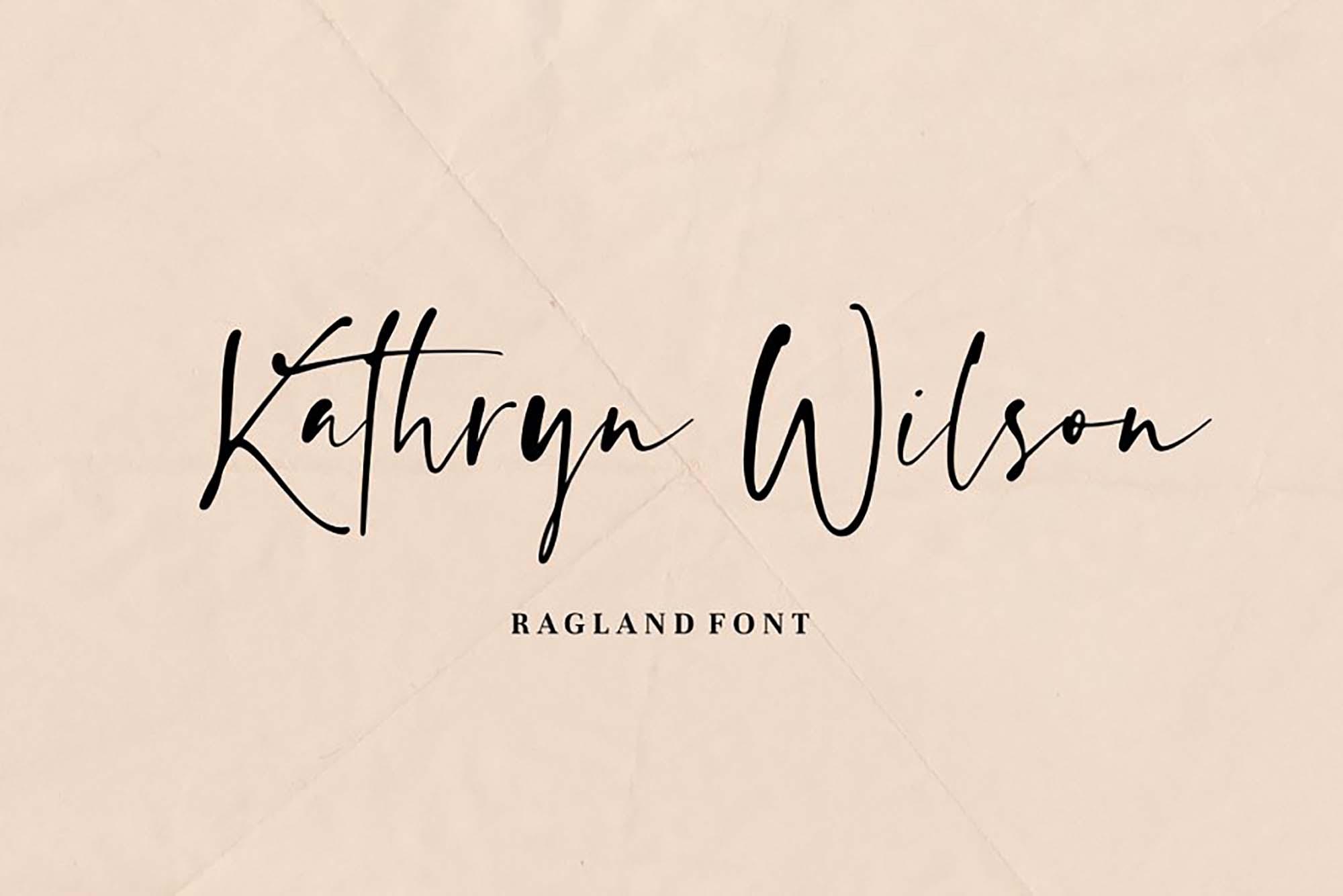 Ragland Handwritten Font 4