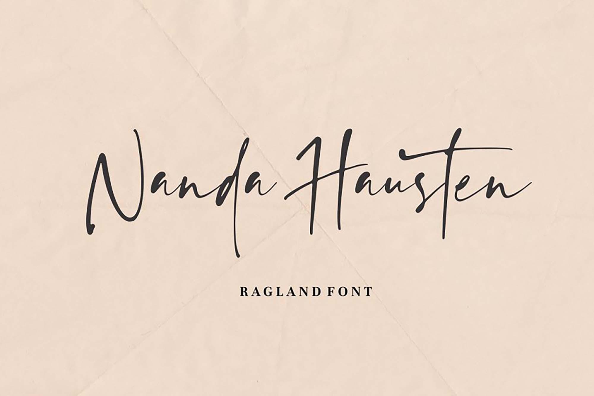 Ragland Handwritten Font 6