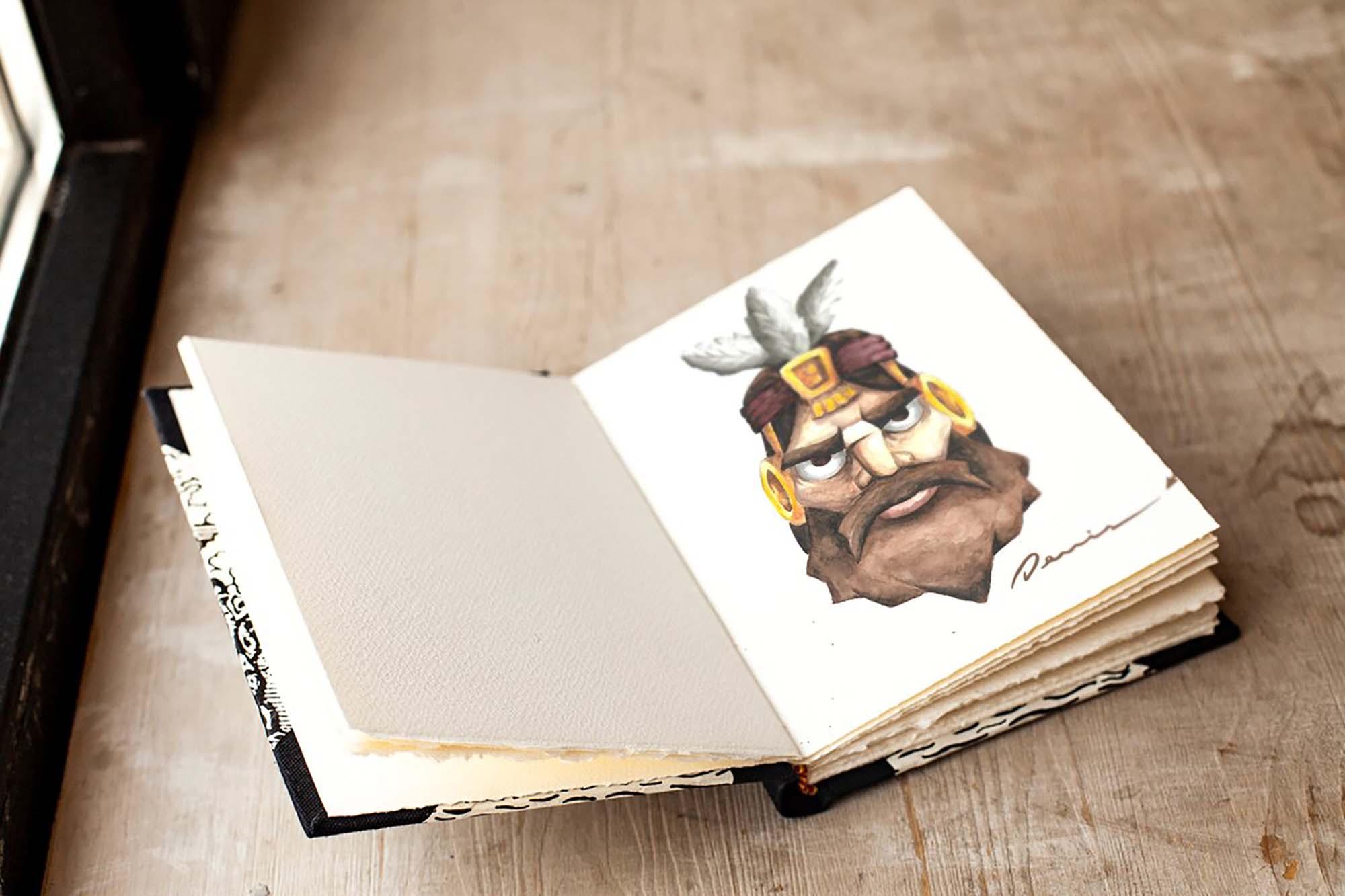 Realistic Art Book Mockup 2
