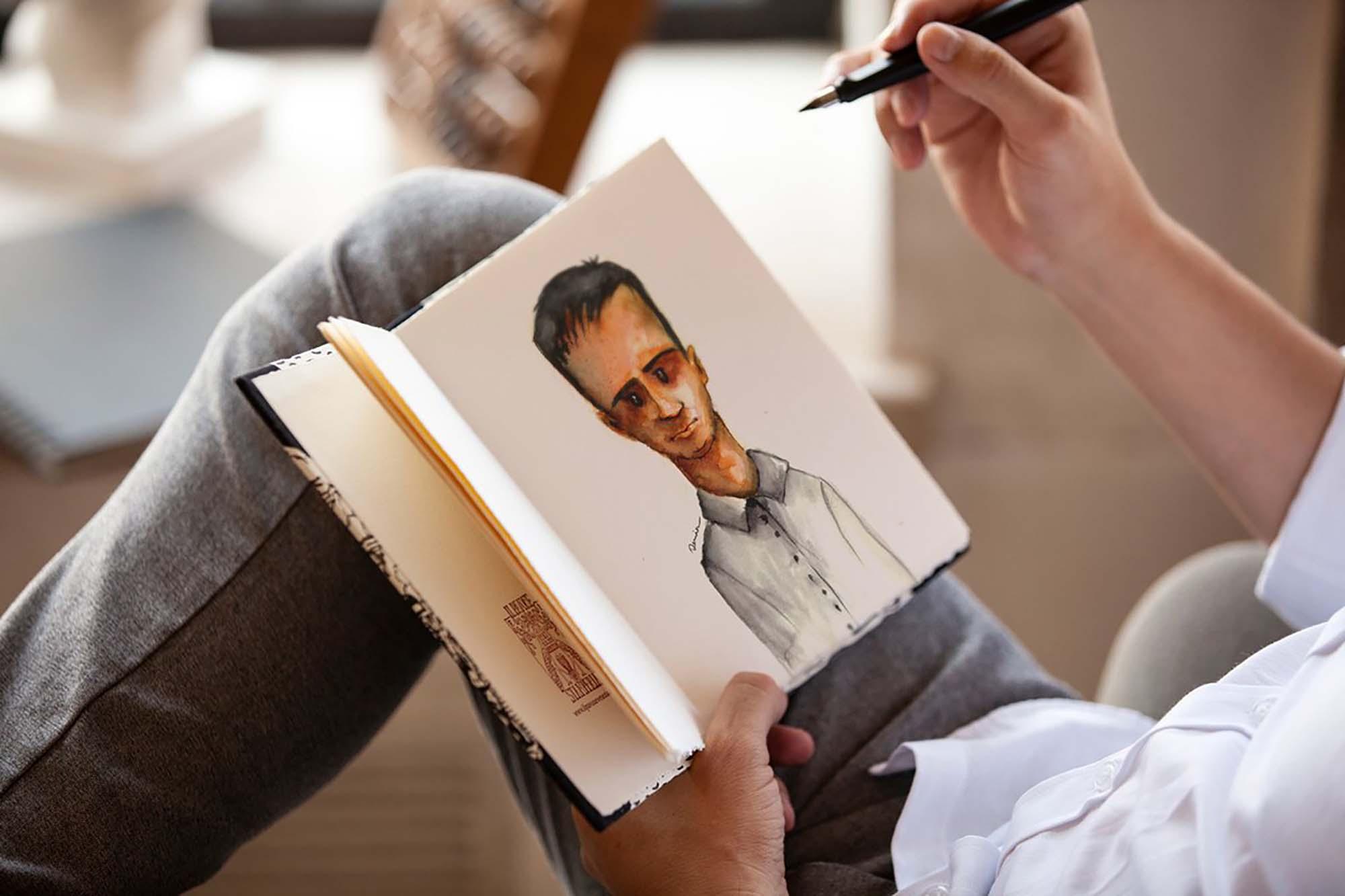 Realistic Art Book Mockup