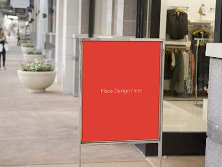 Retail Store Sale Sign Mockup