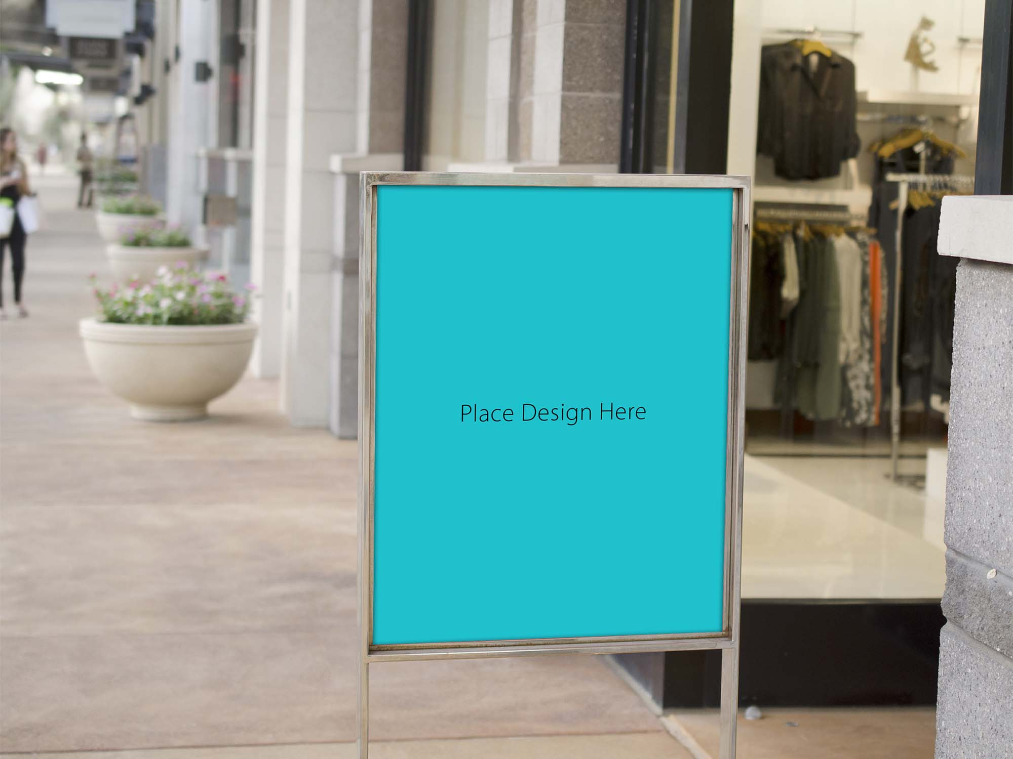 Retail Store Sale Sign Mockup 2