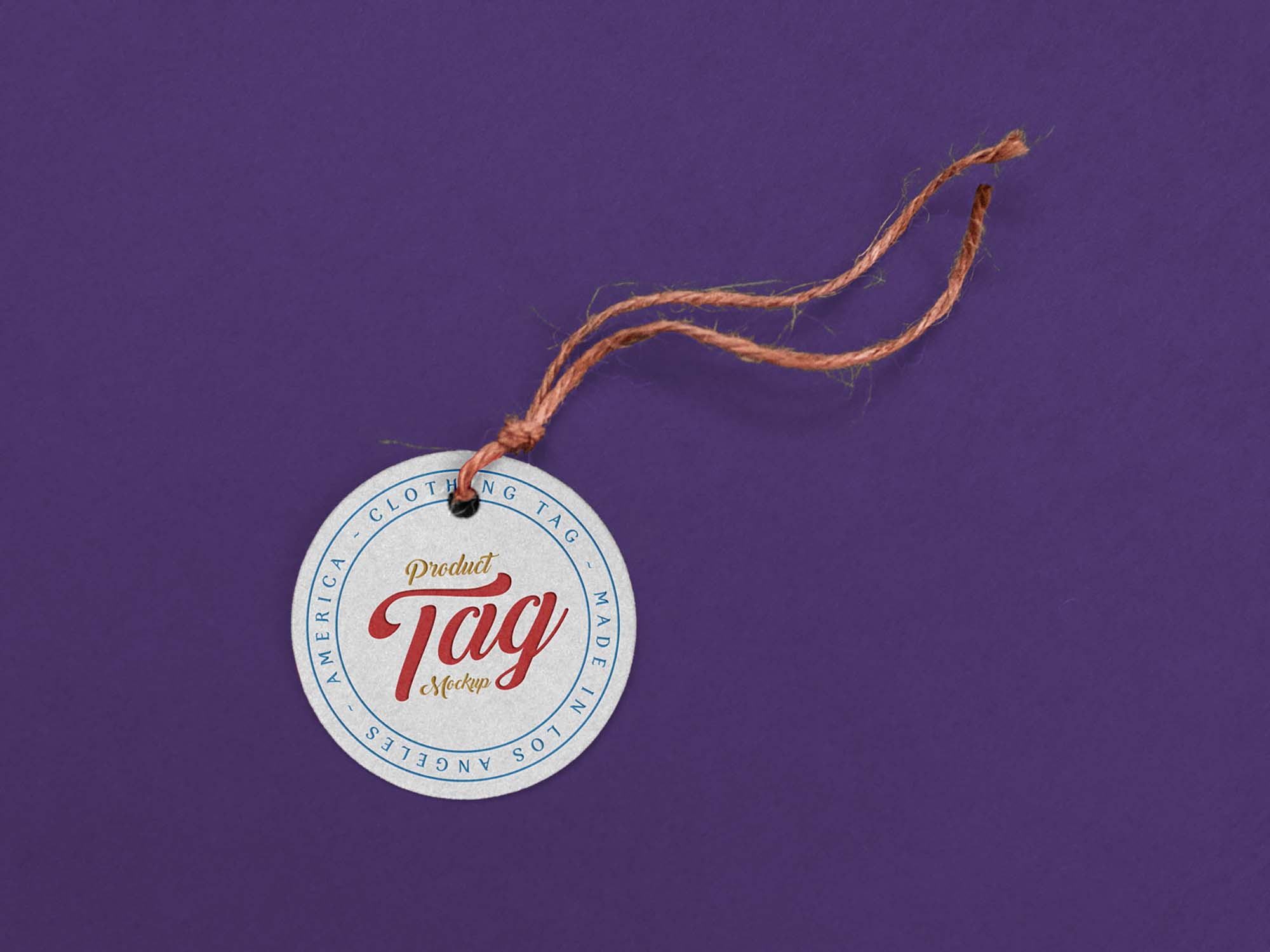 Round Product Tag Mockup