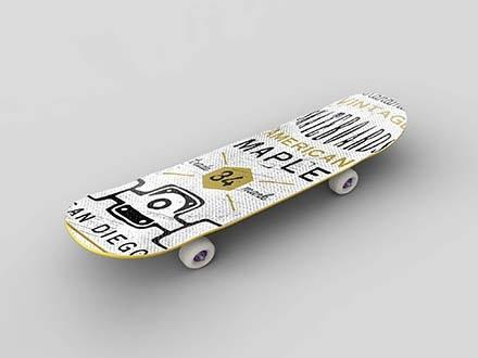 Simple Skateboard Mockup