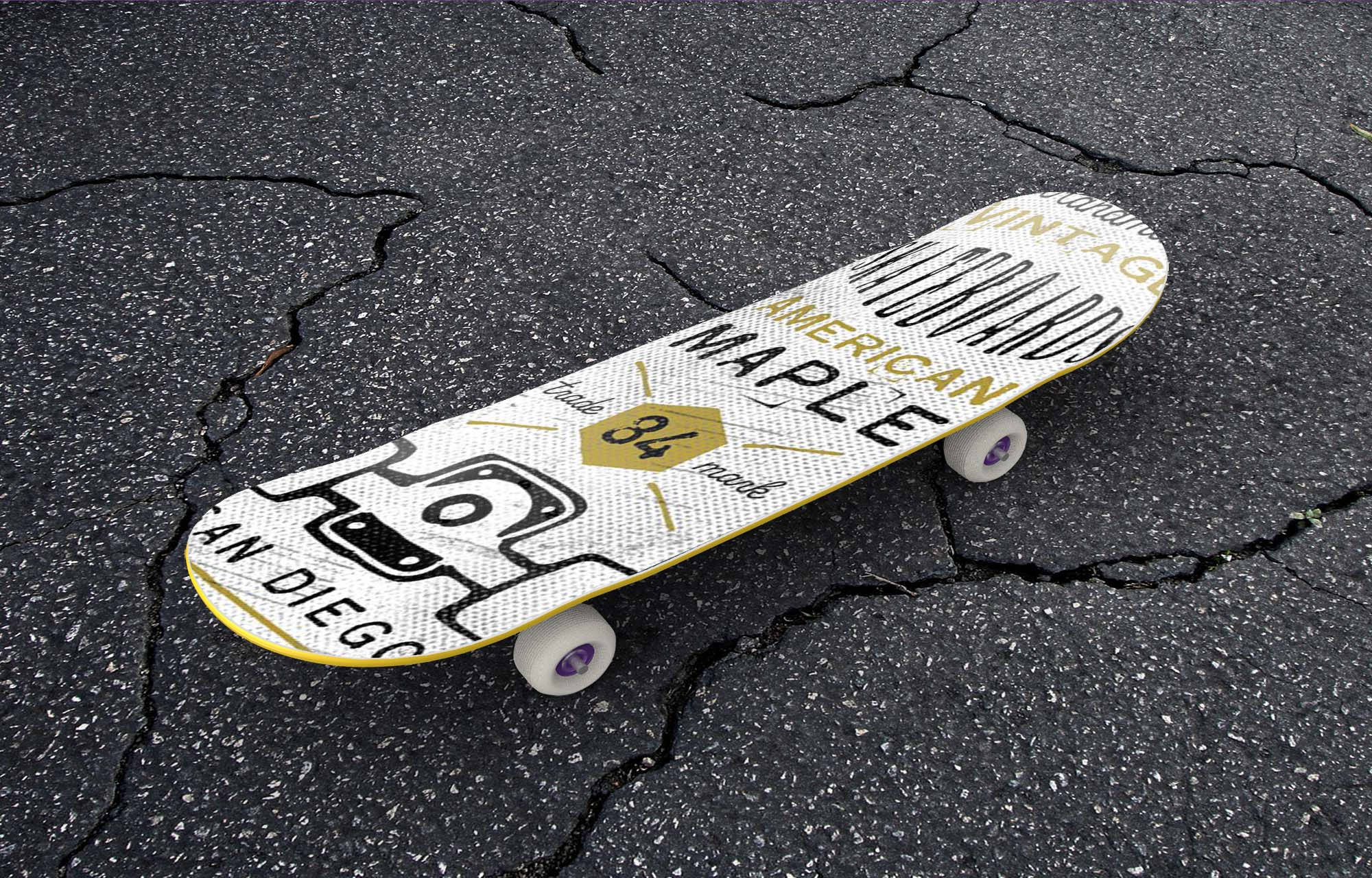 Simple Skateboard Mockup 2