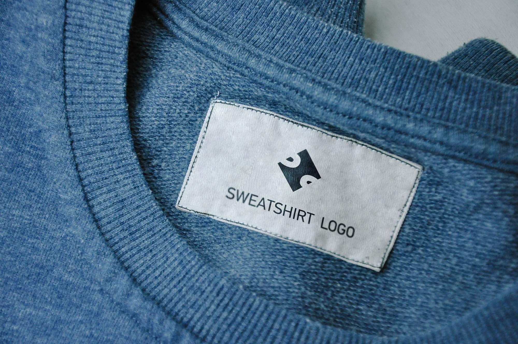Sweatshirt Label Mockup